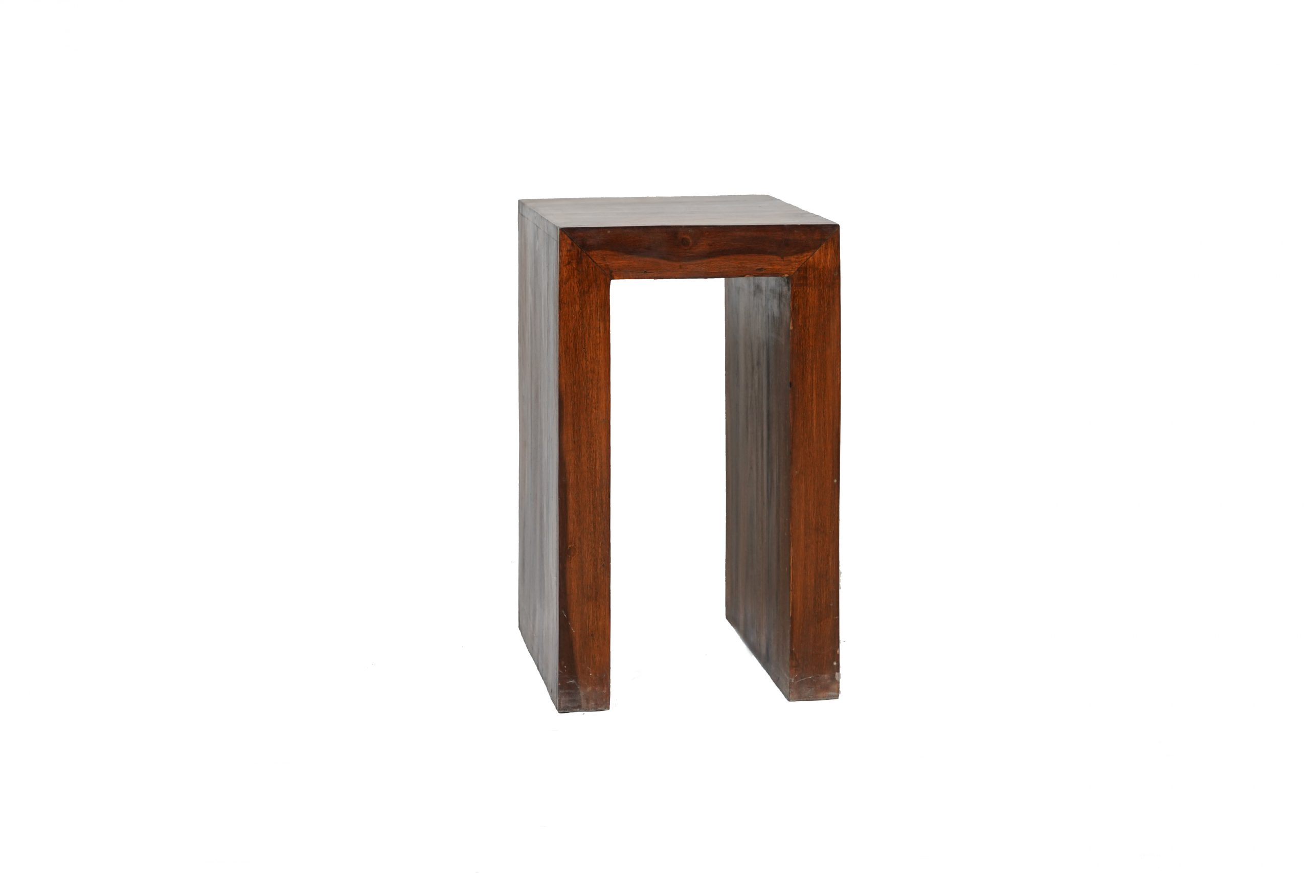 A wooden stool