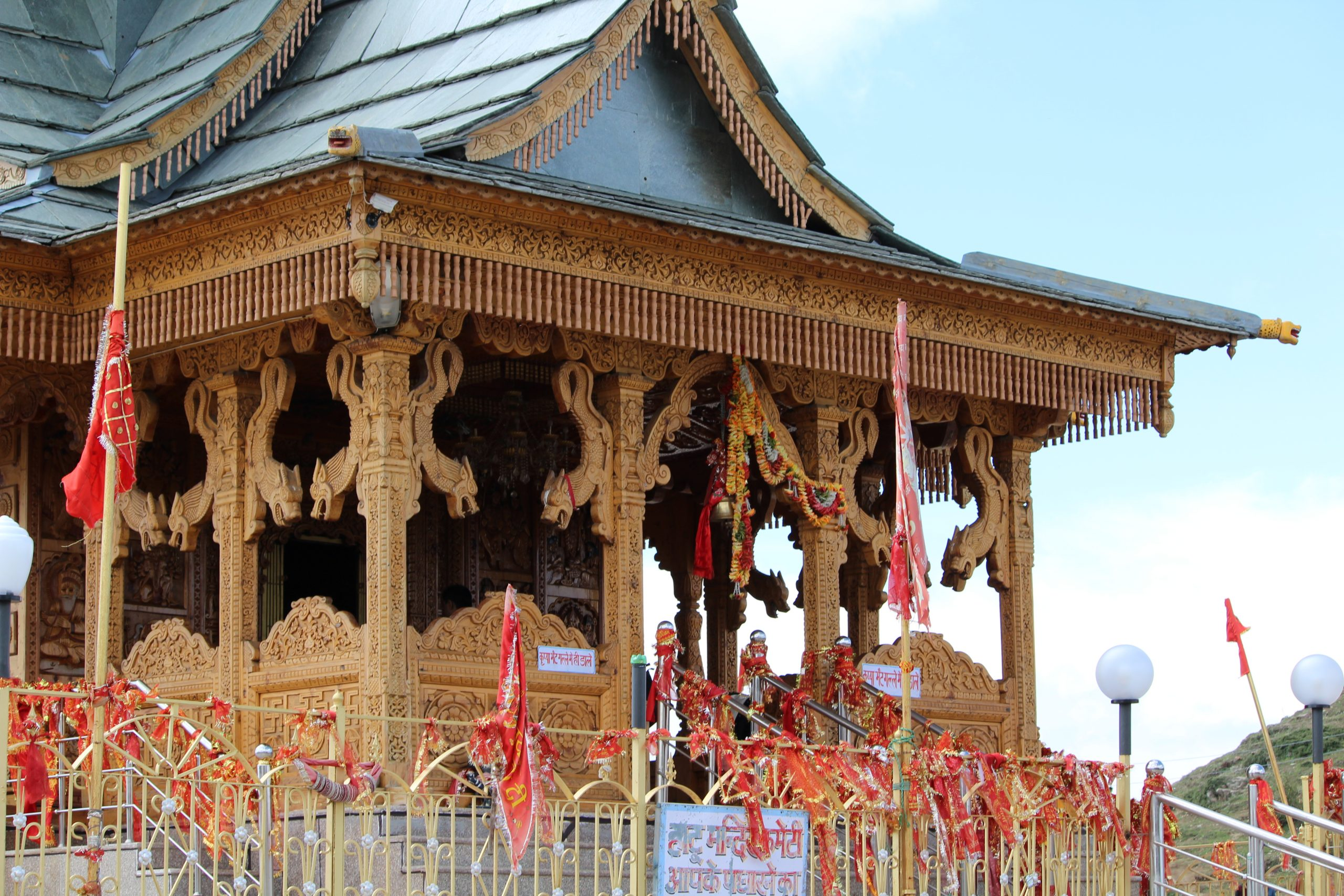 A wooden temple