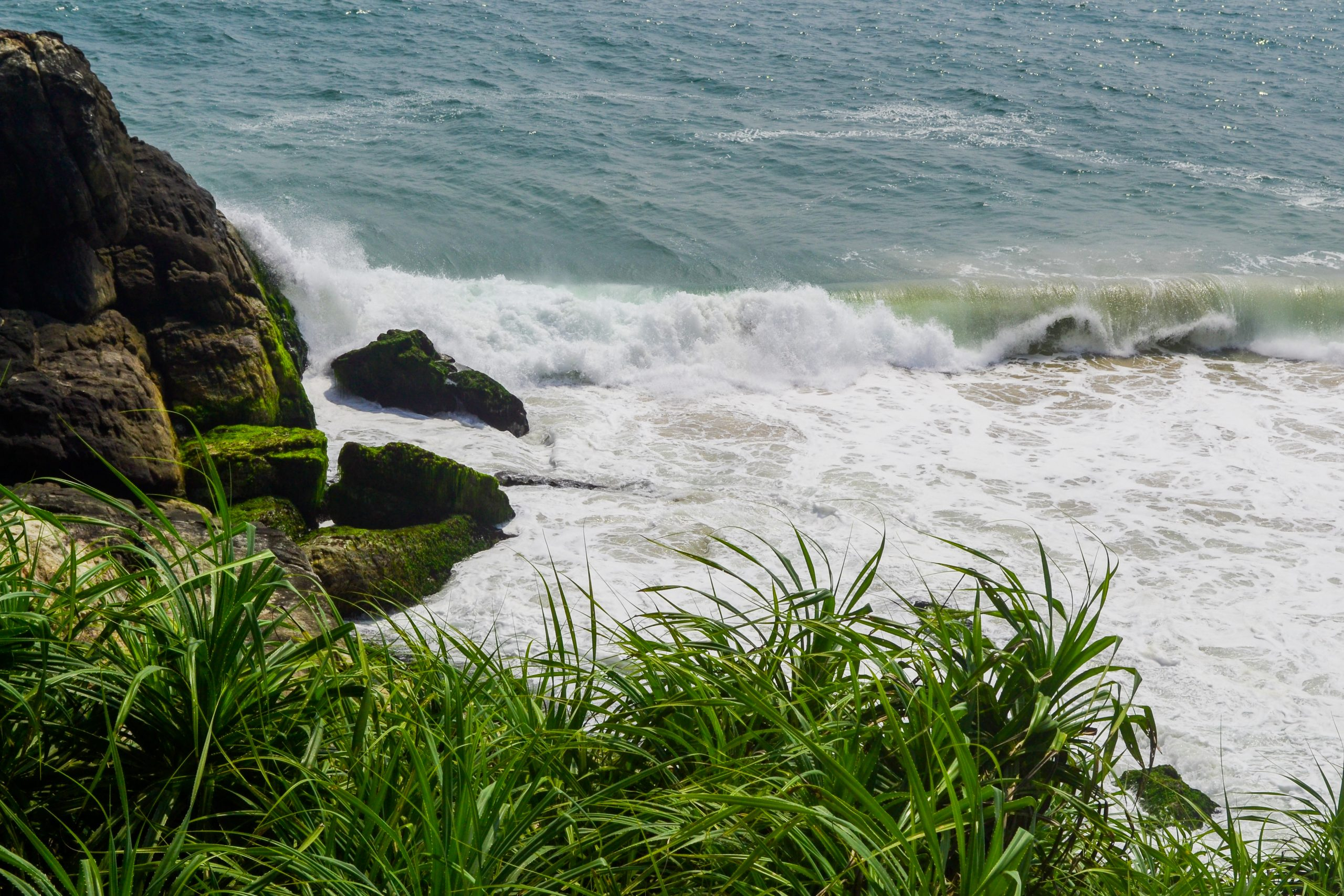 Seawaves at beach