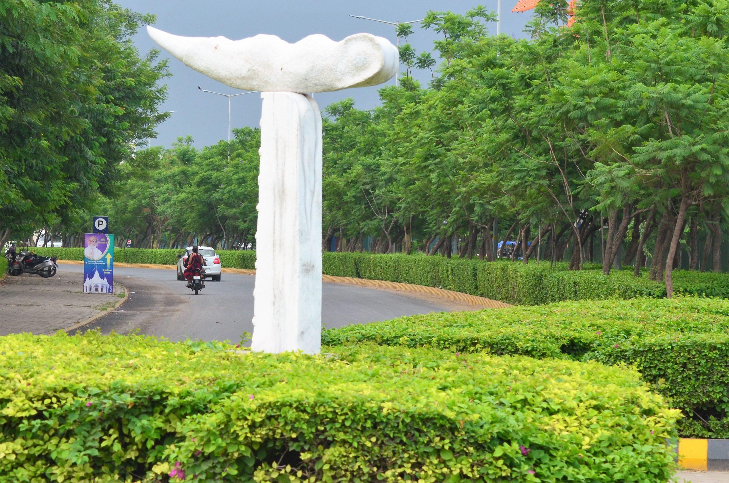 A roadside park in Ahmedabad