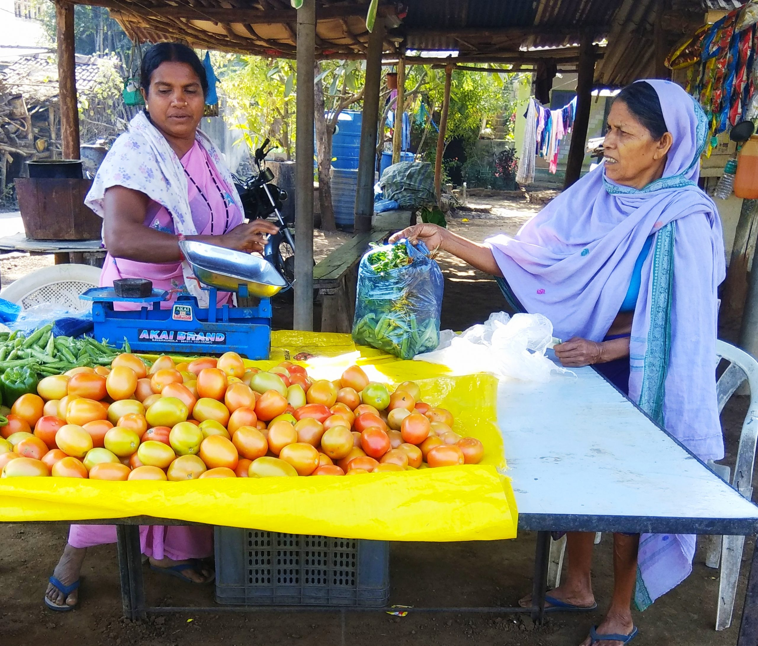 A women selling vegetables