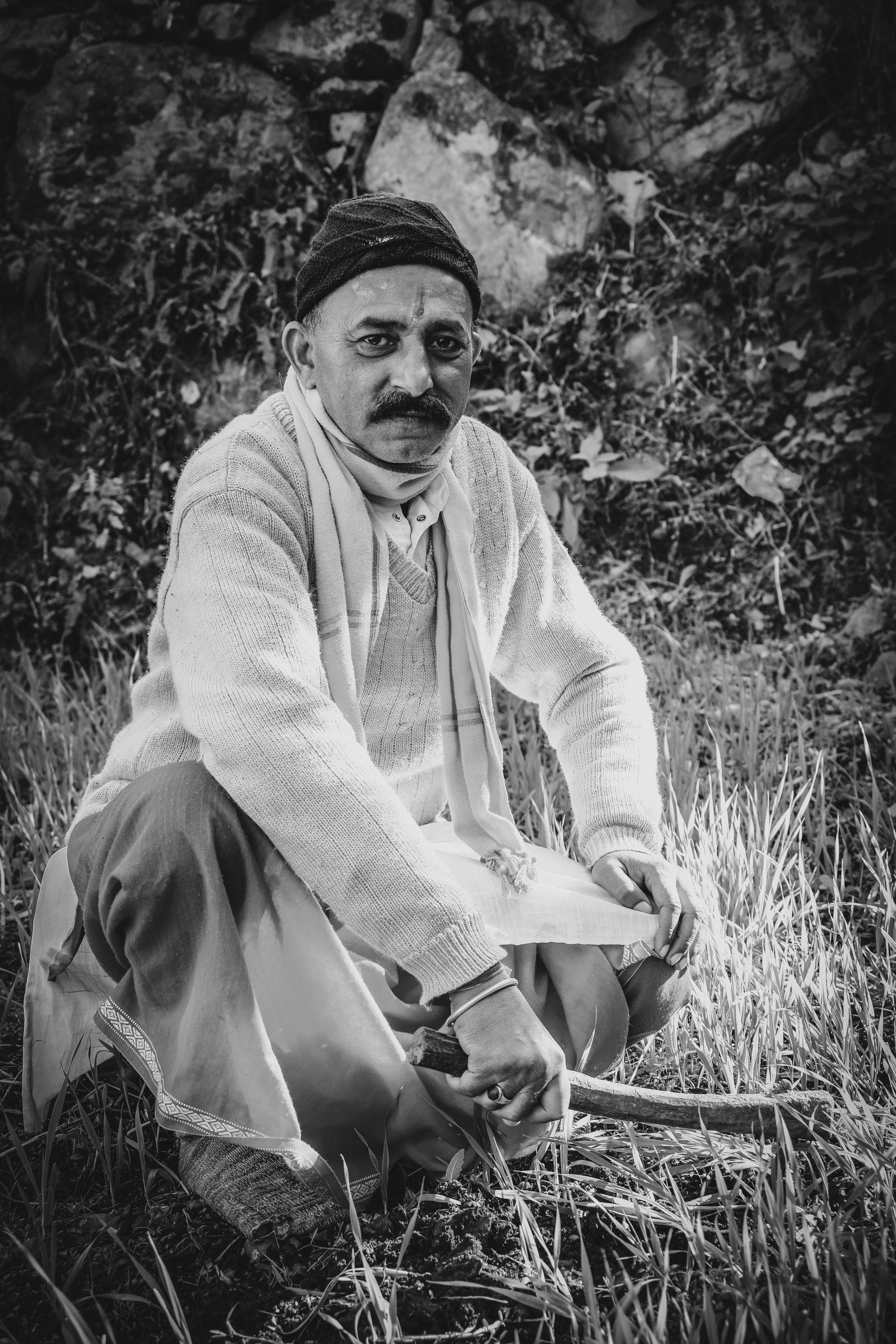 An Indian farmer