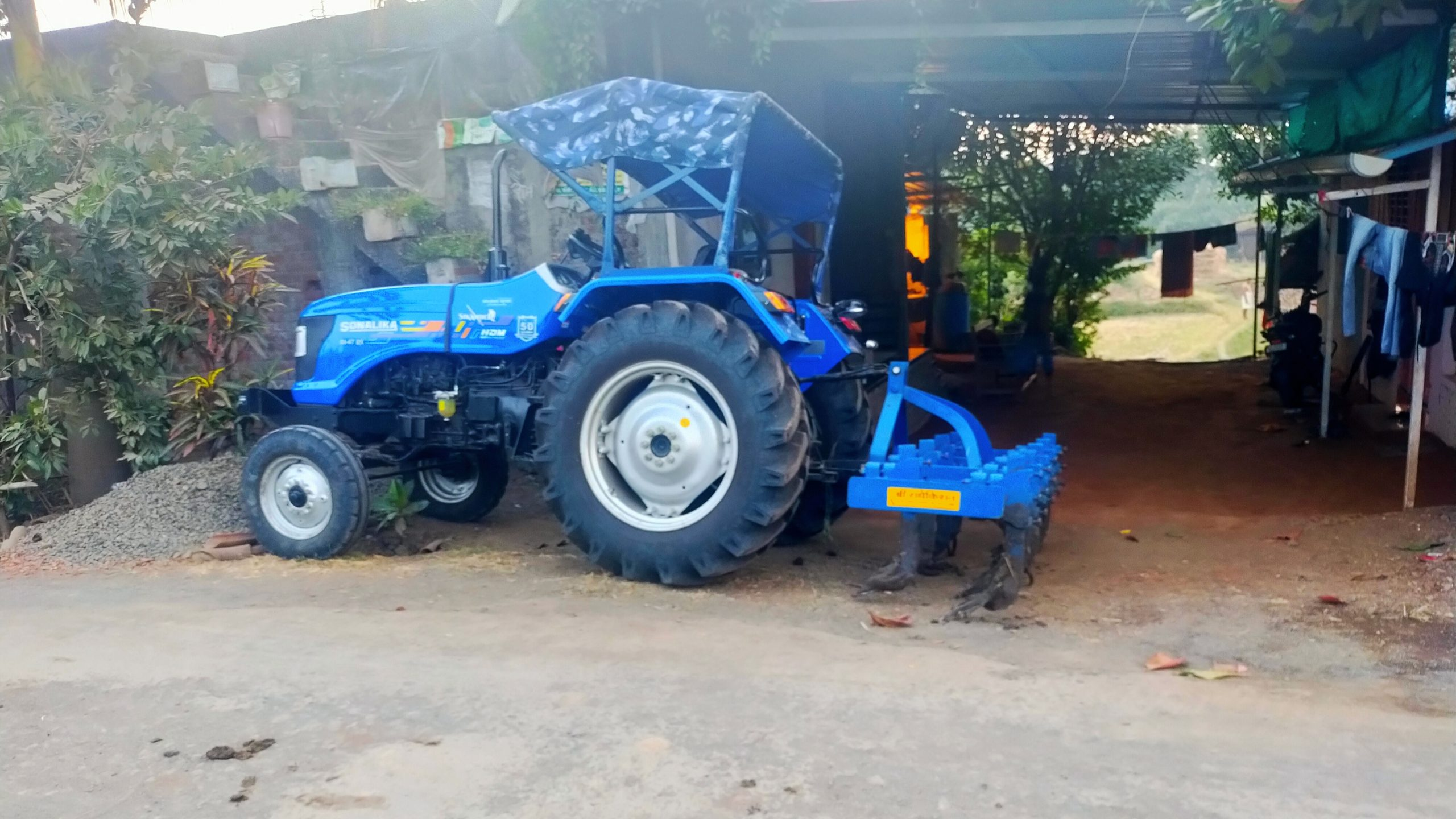 An agriculture tractor