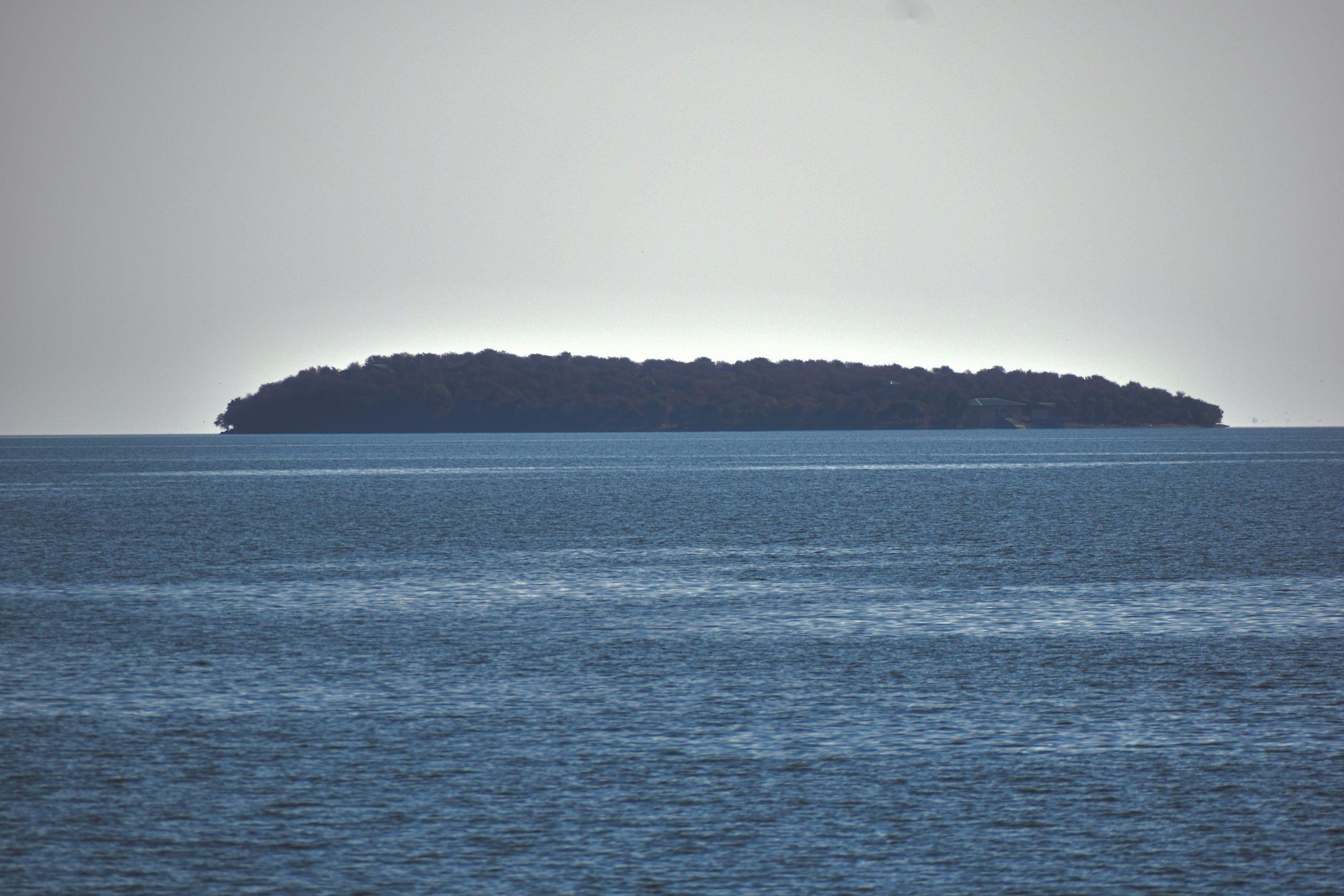 An island on Gandhi Sagar dam