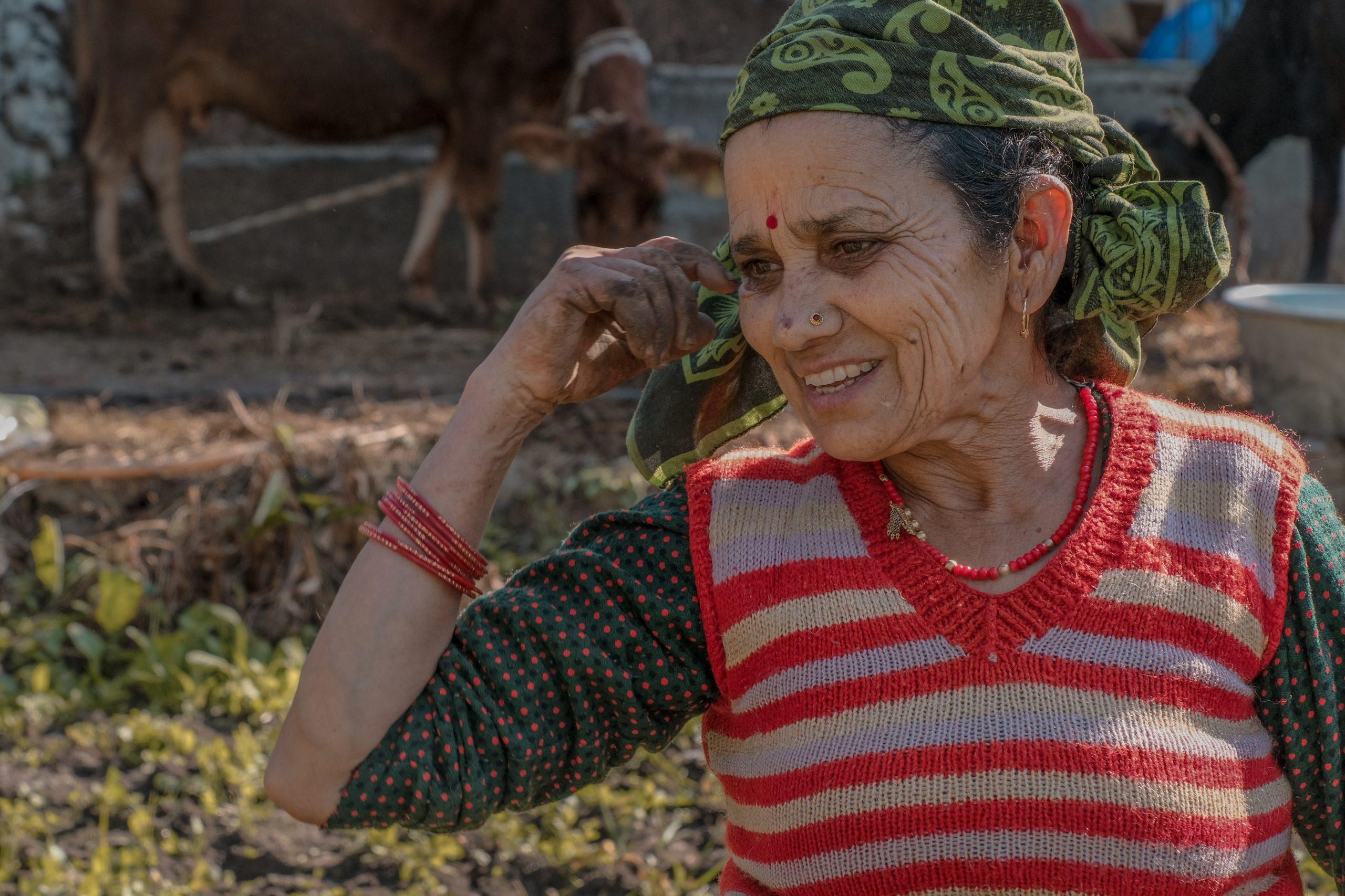 An old lady farmer