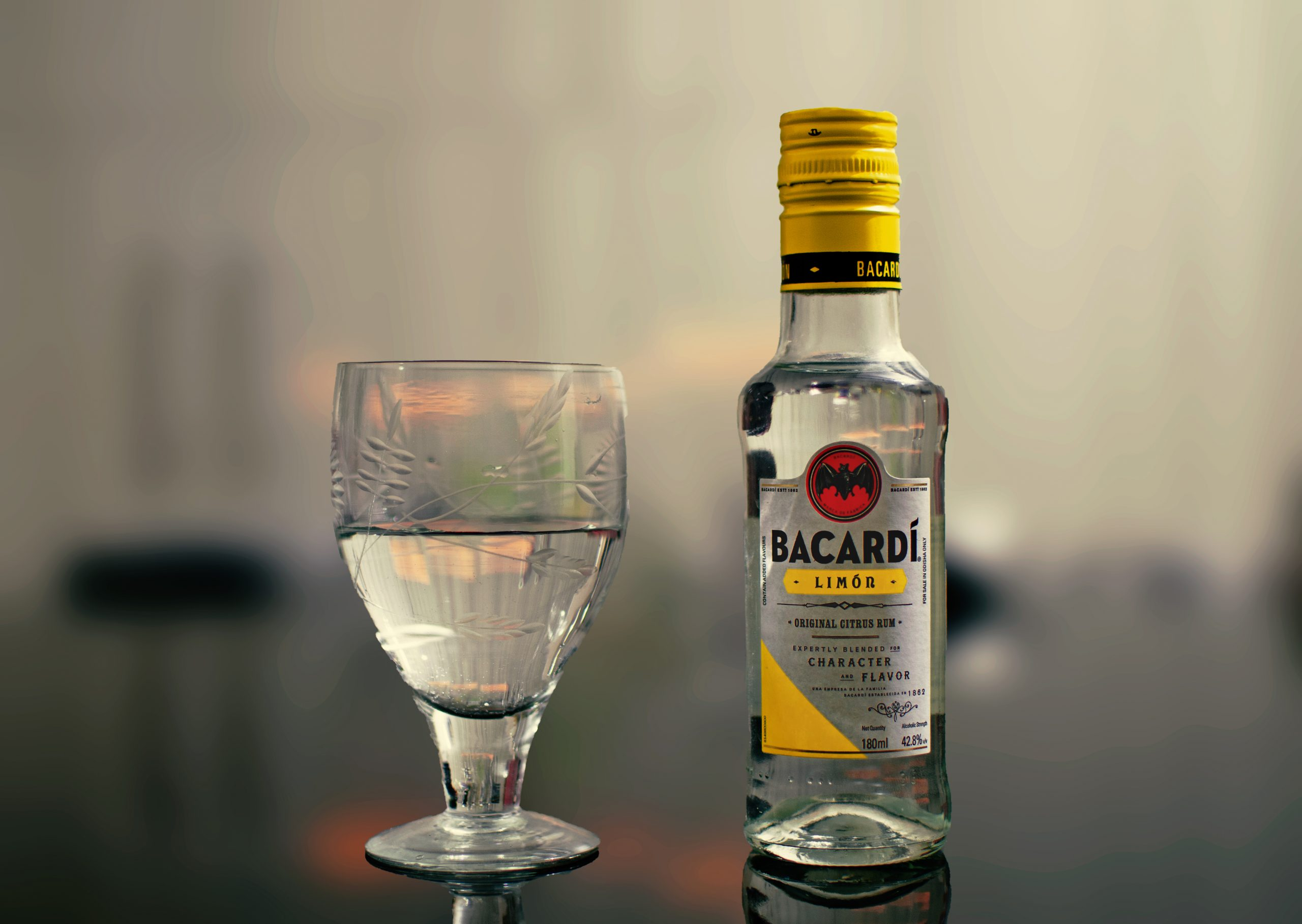 Snap of a Bacardi lemon