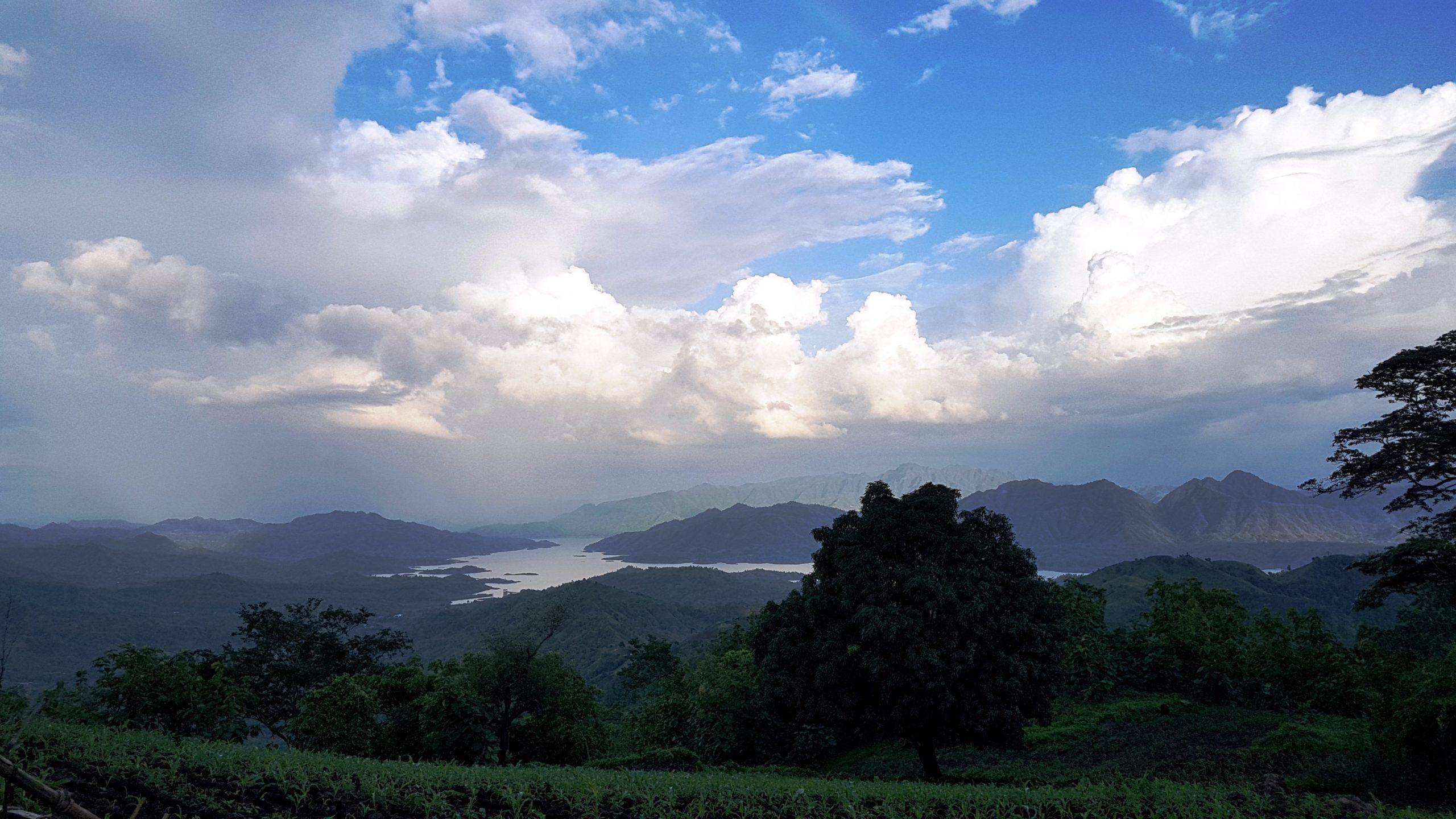 A mountain viewa