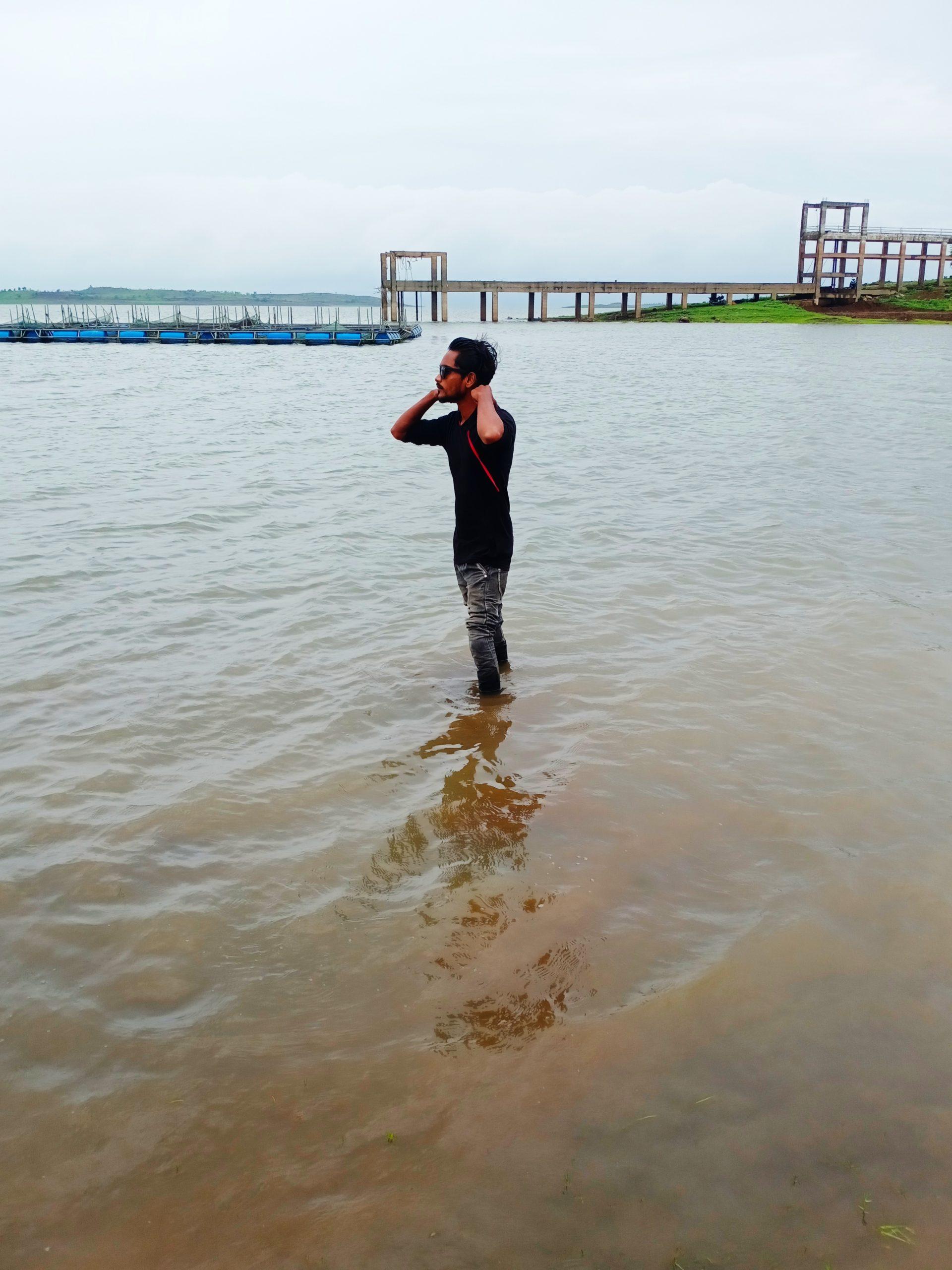 A boy in water