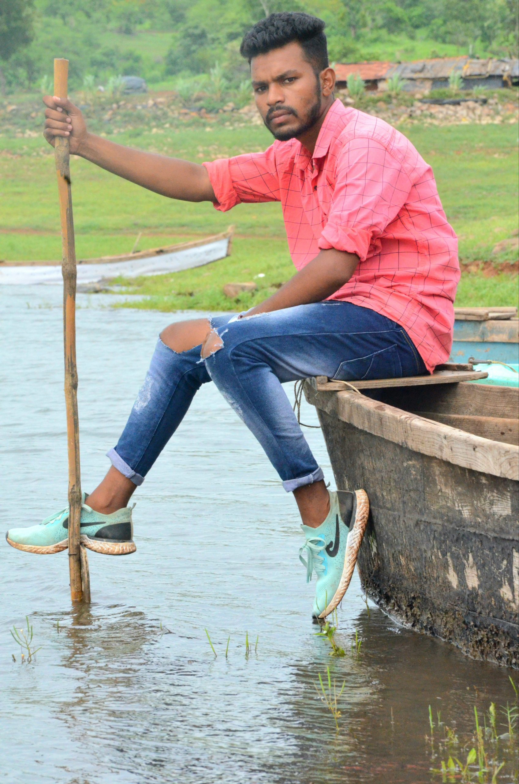 A boy on a boat