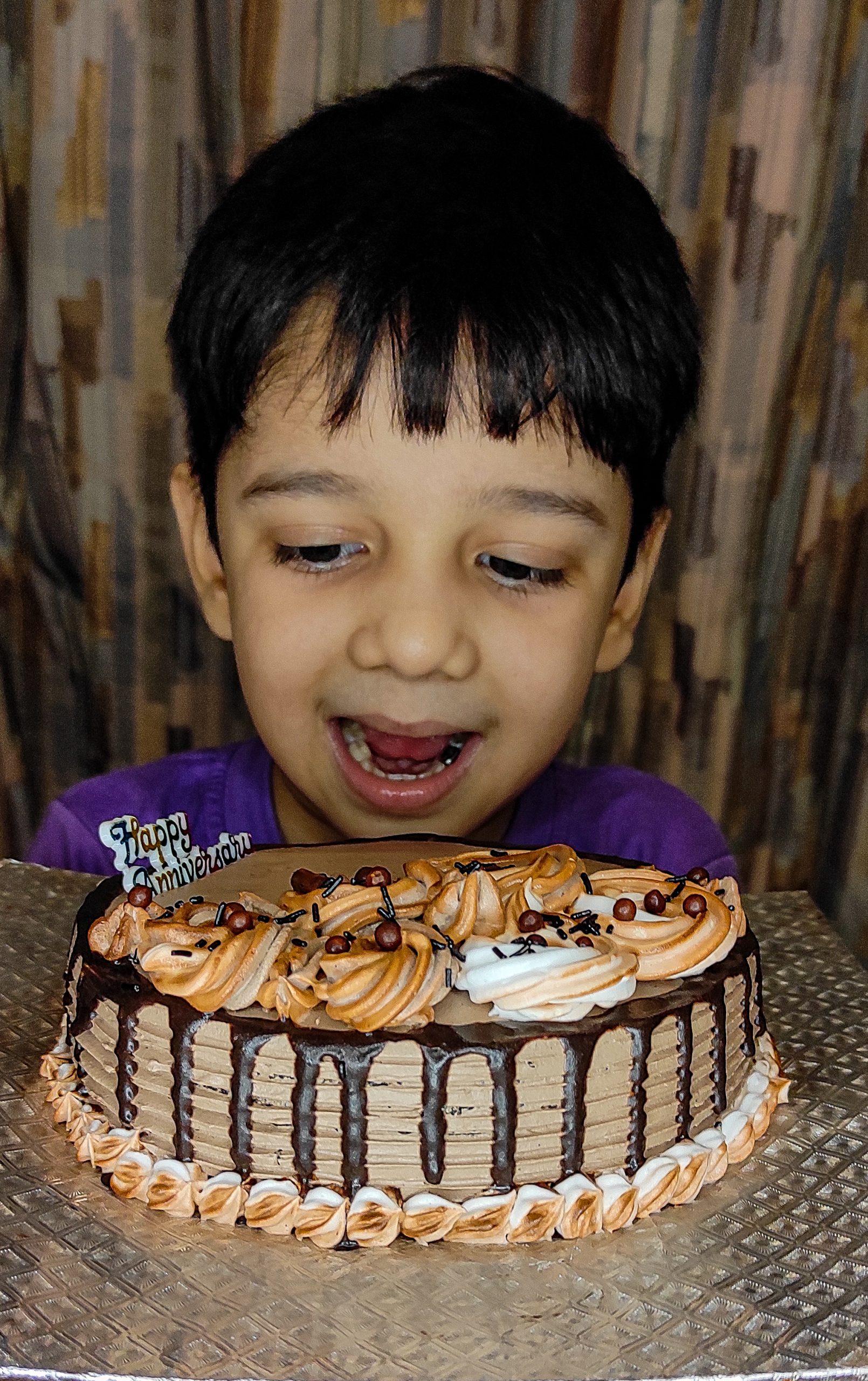 boy with a cake