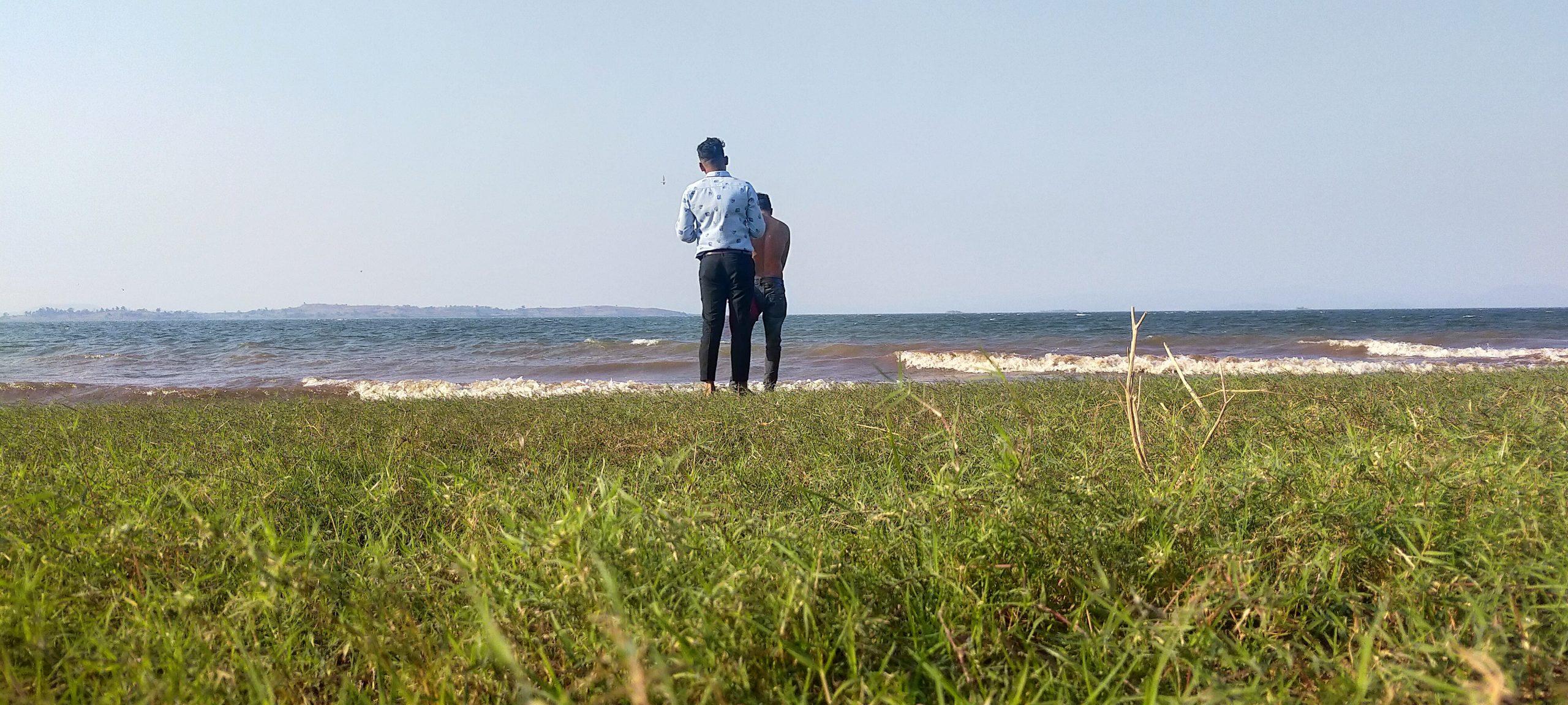 Men near the beach