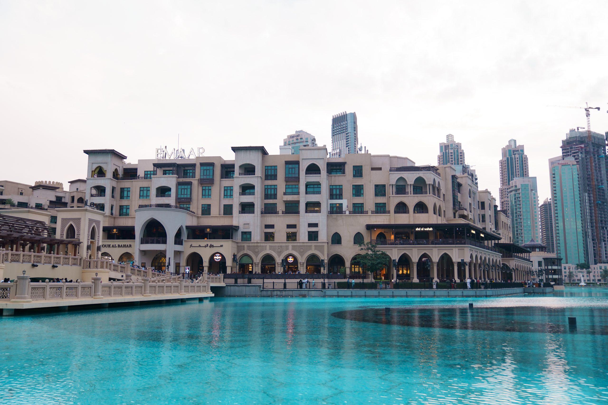 Buildings and water pool