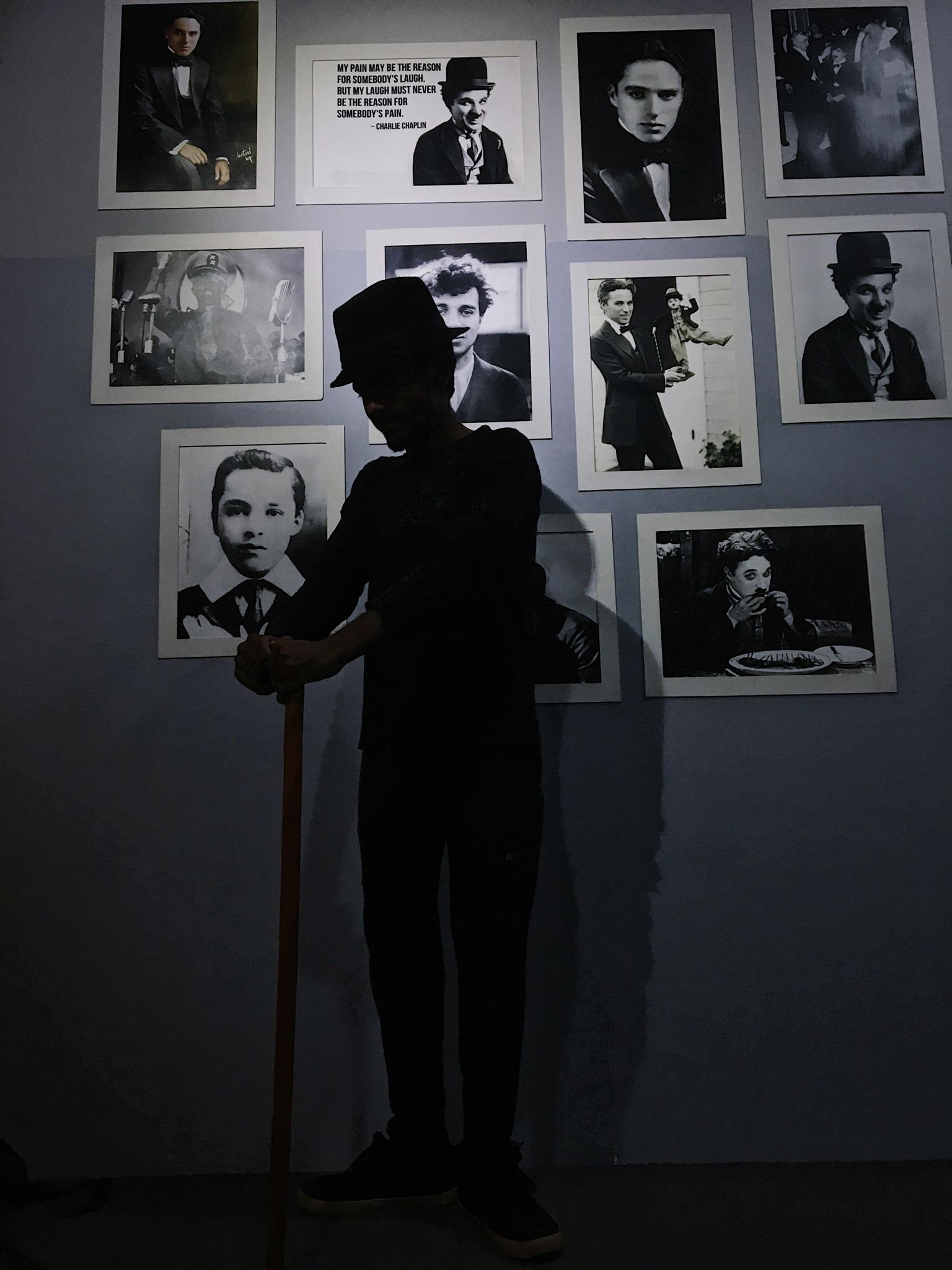 Boy posing in dark