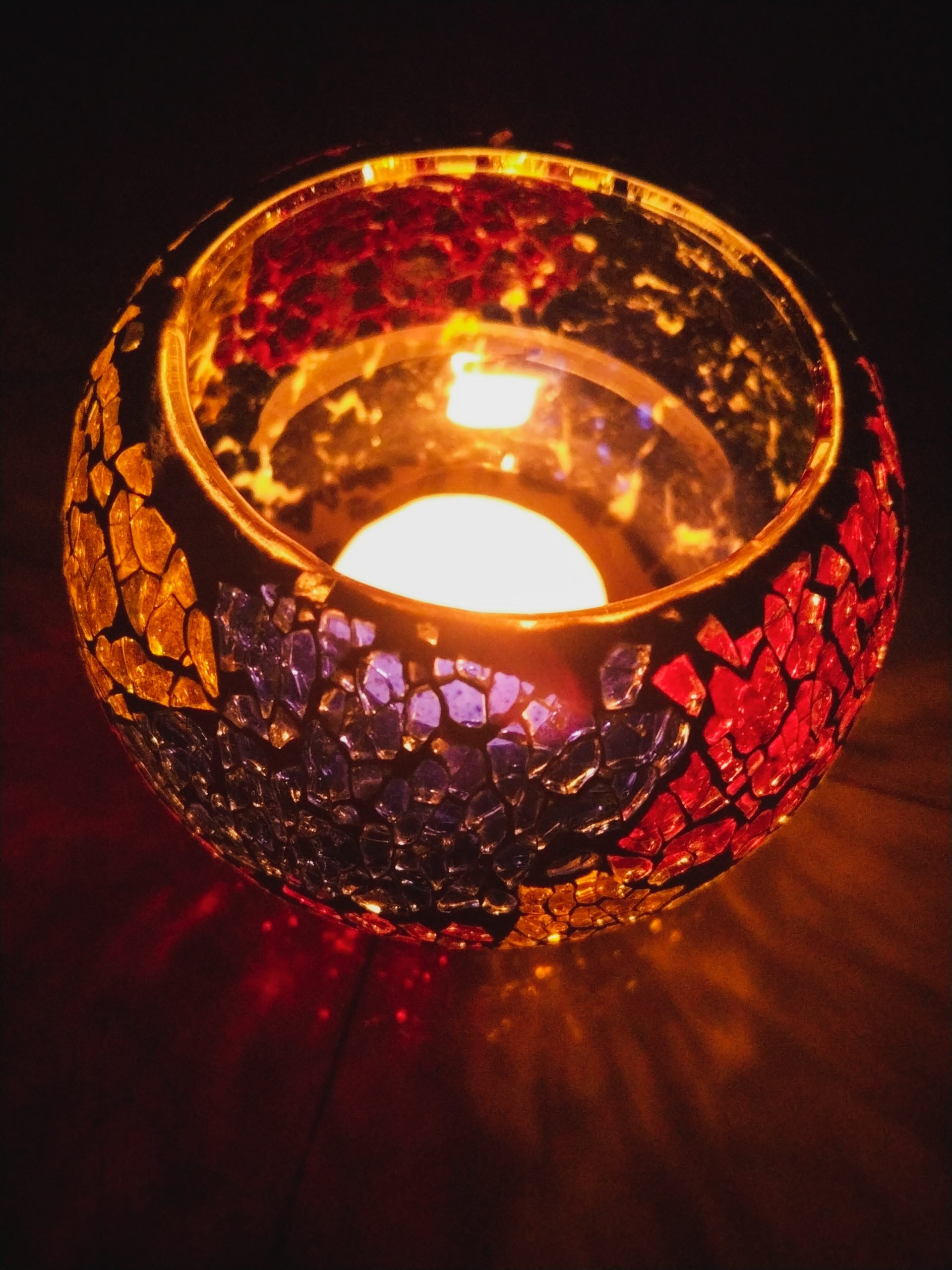 Diya lite in dark