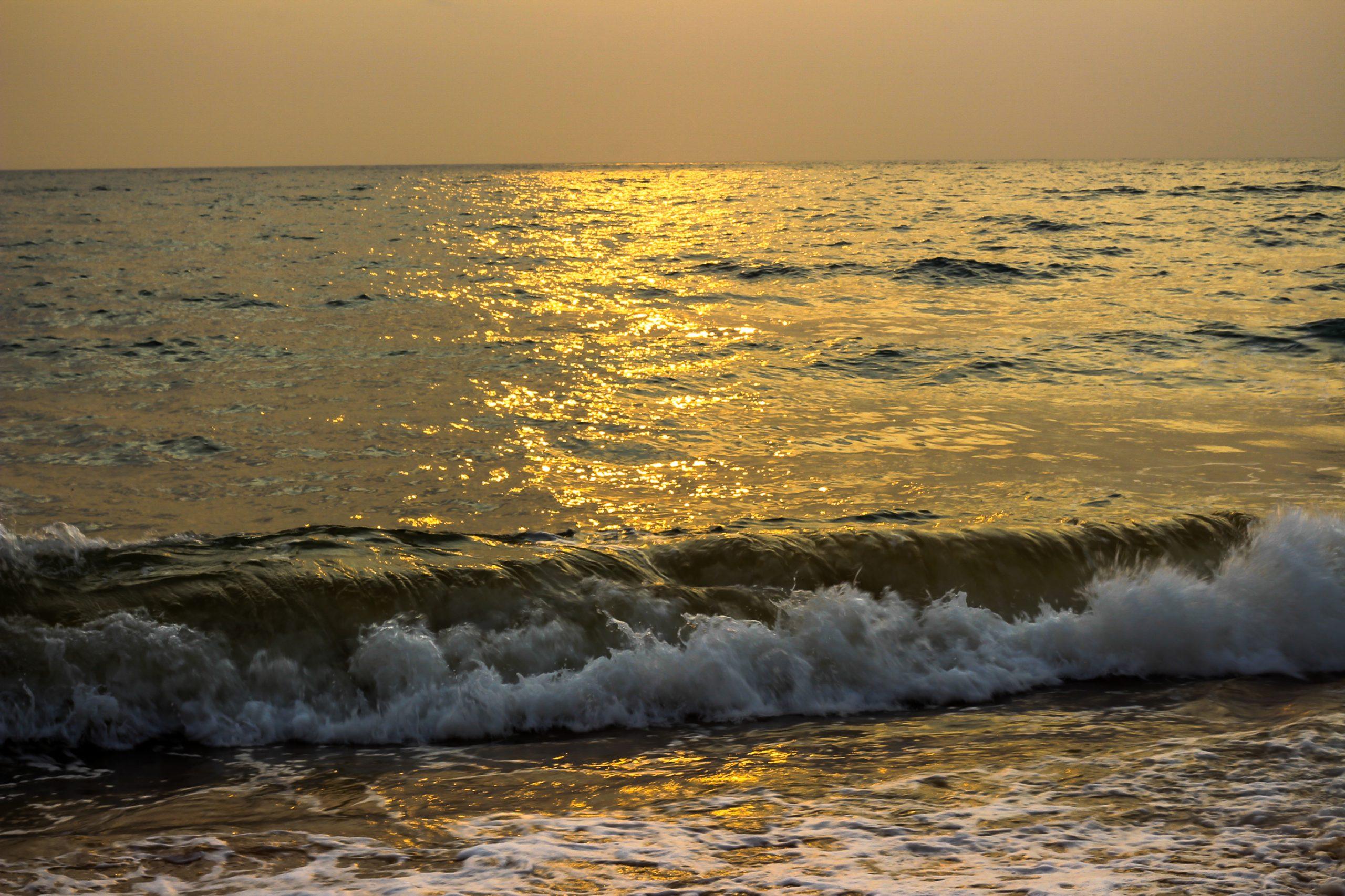 Beach water waves
