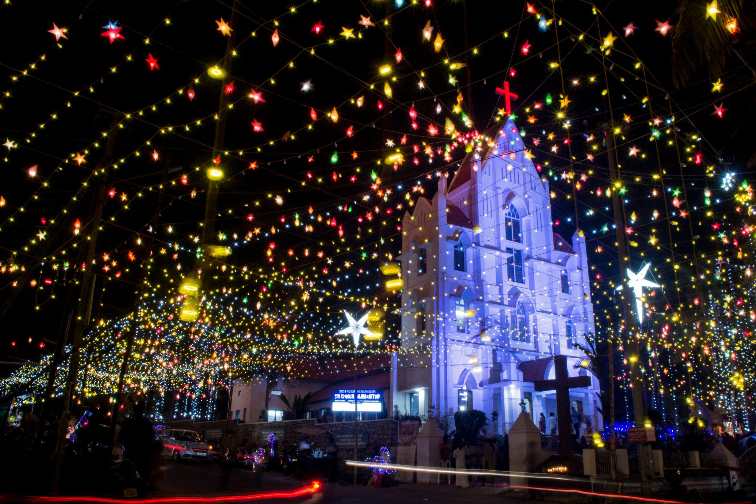 Christmas lighting for a church