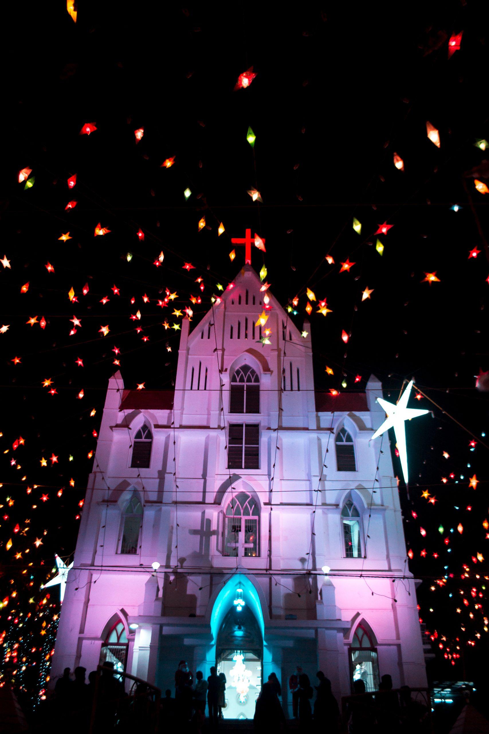 Church during Christmas