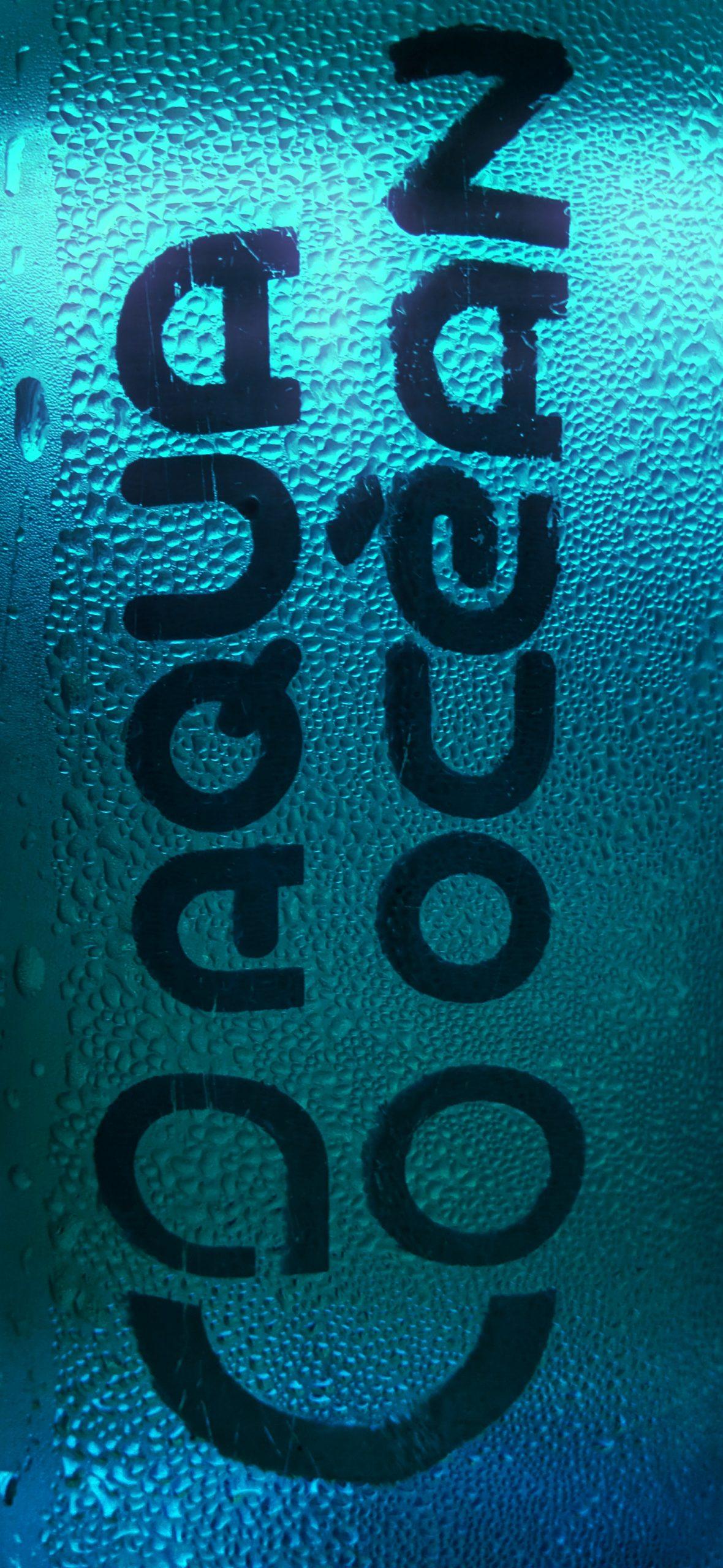 Aqua ocean written on a product