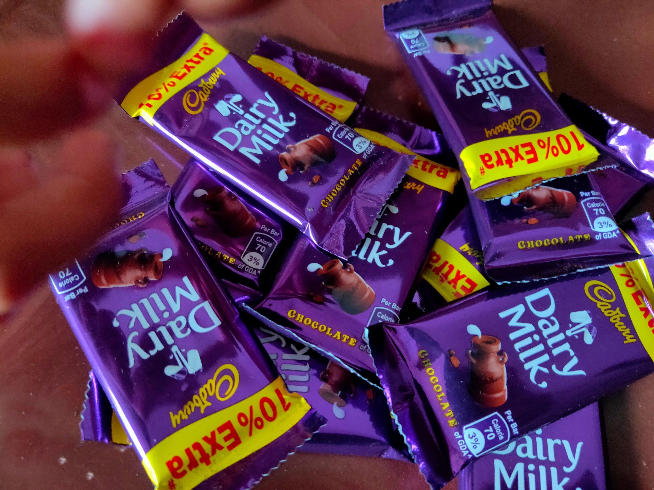 Dairy milk chocolate packs