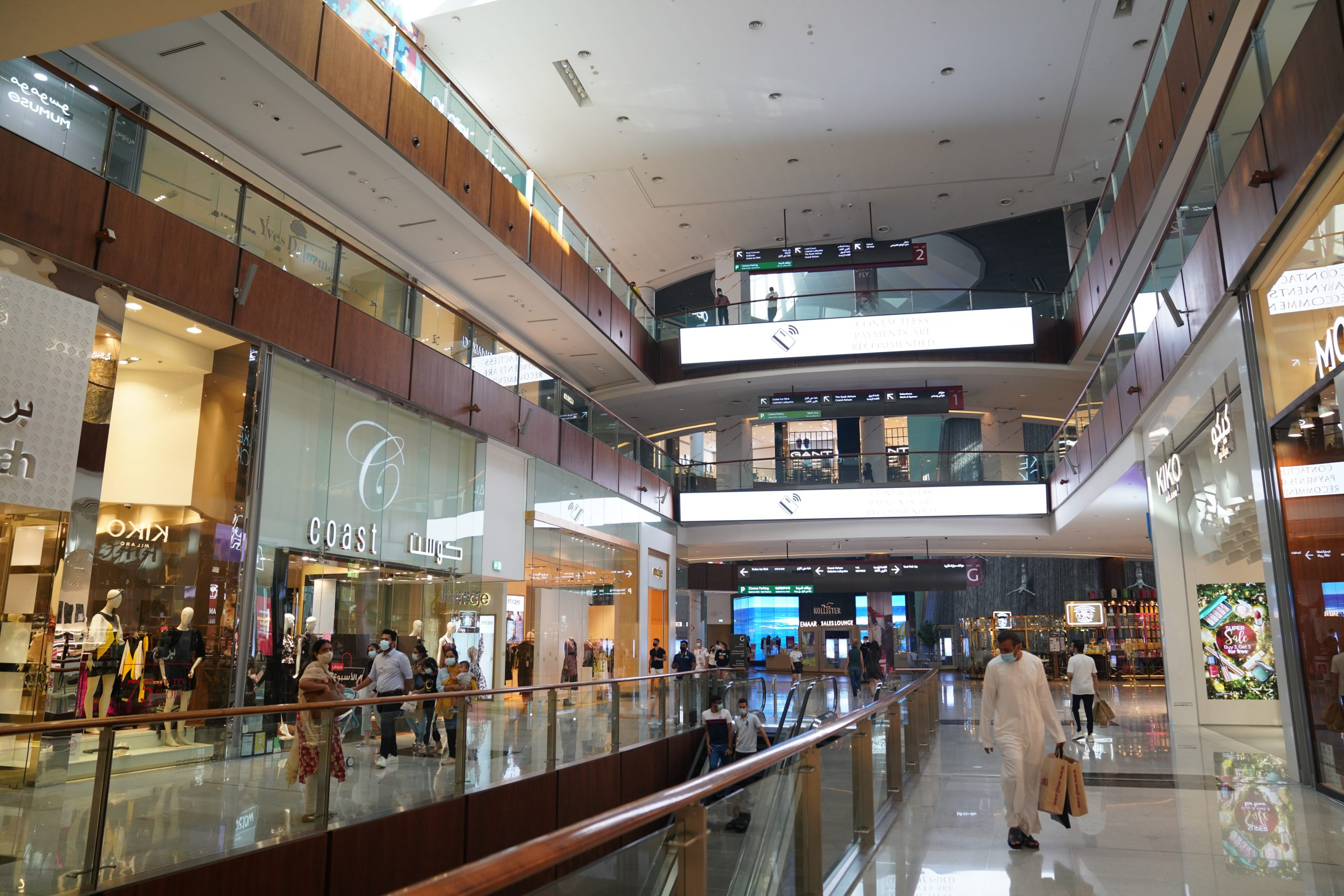 A shopping mall in Dubai