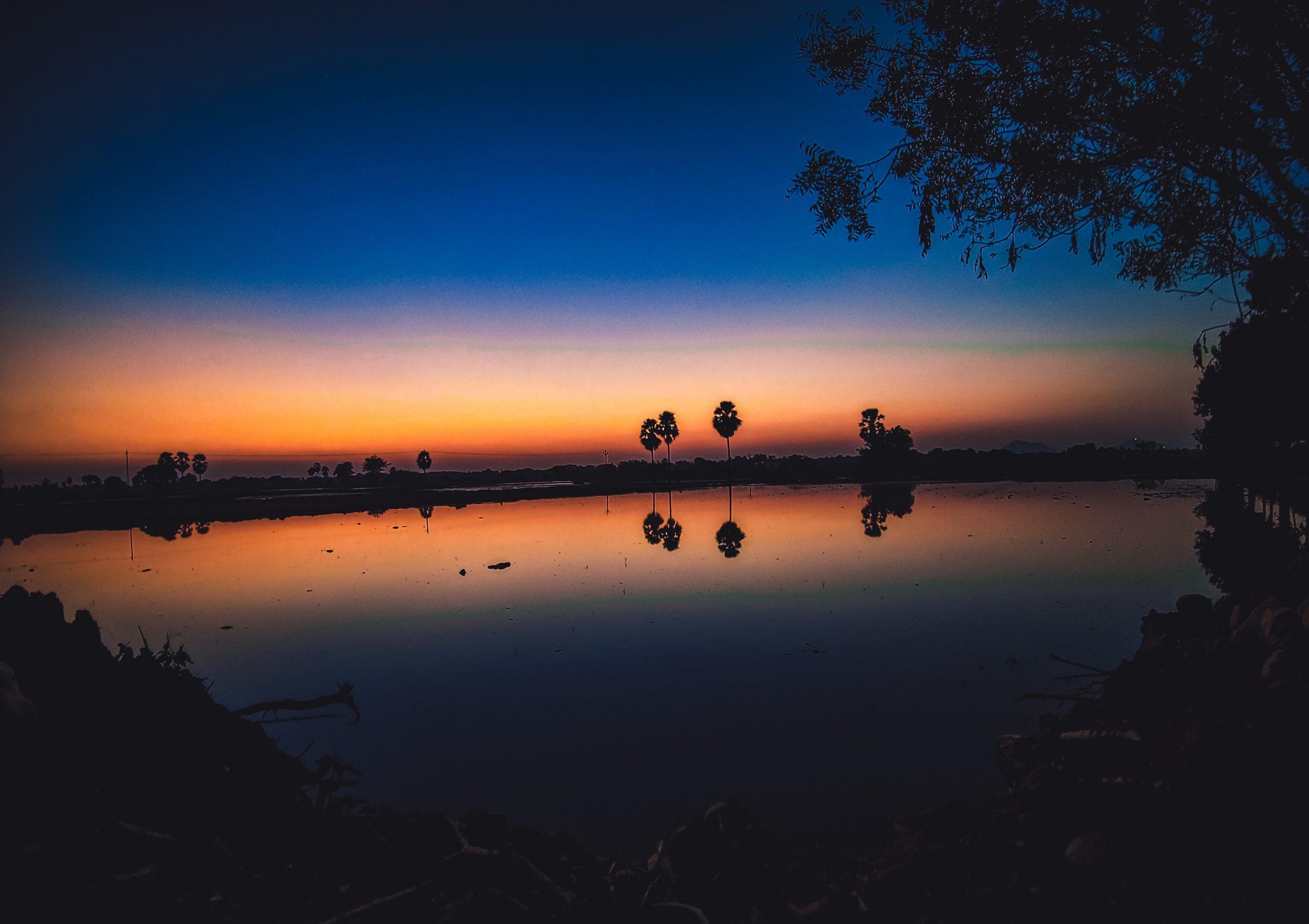 Evening at a lake