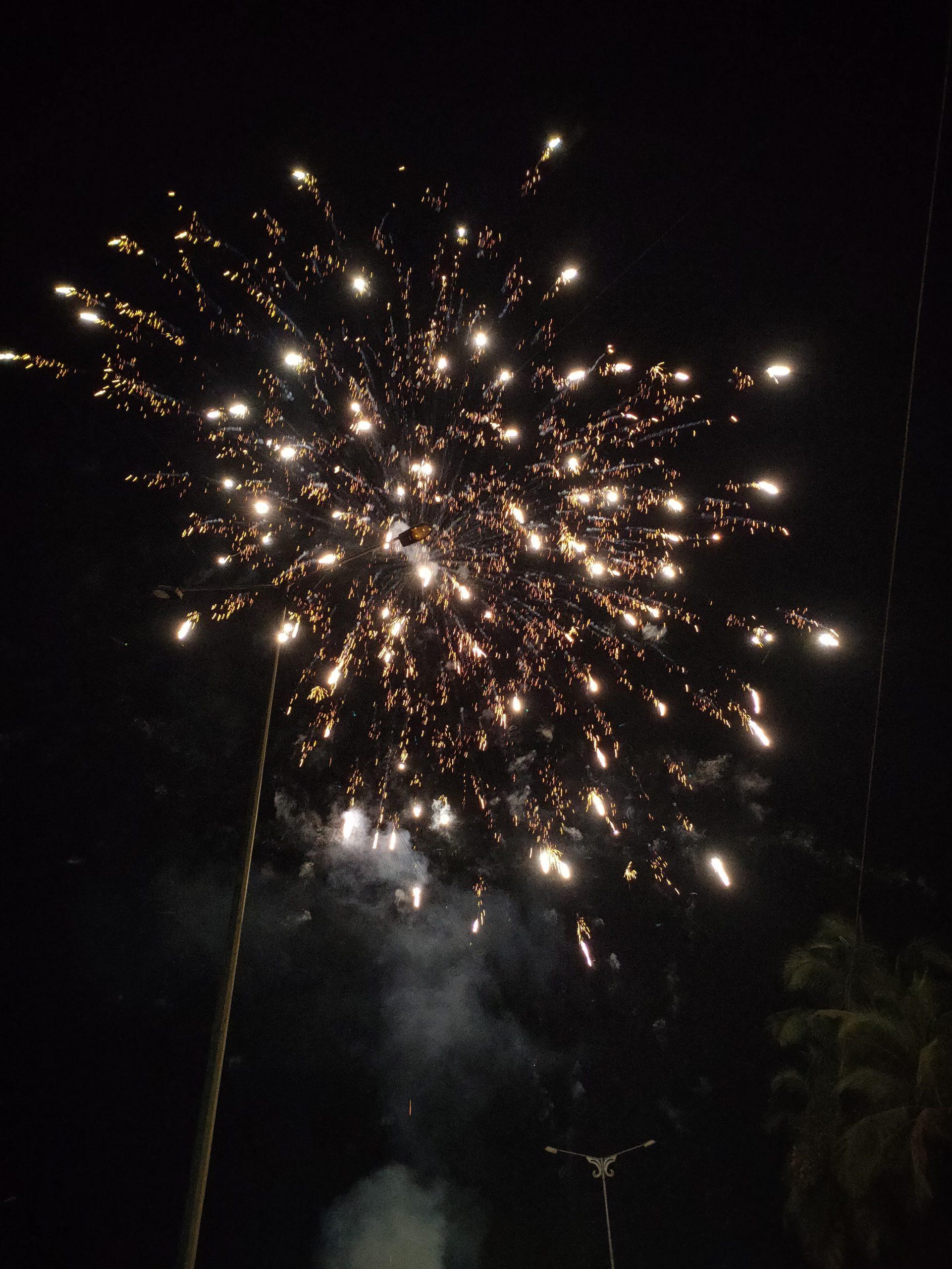Firecrackers sparking