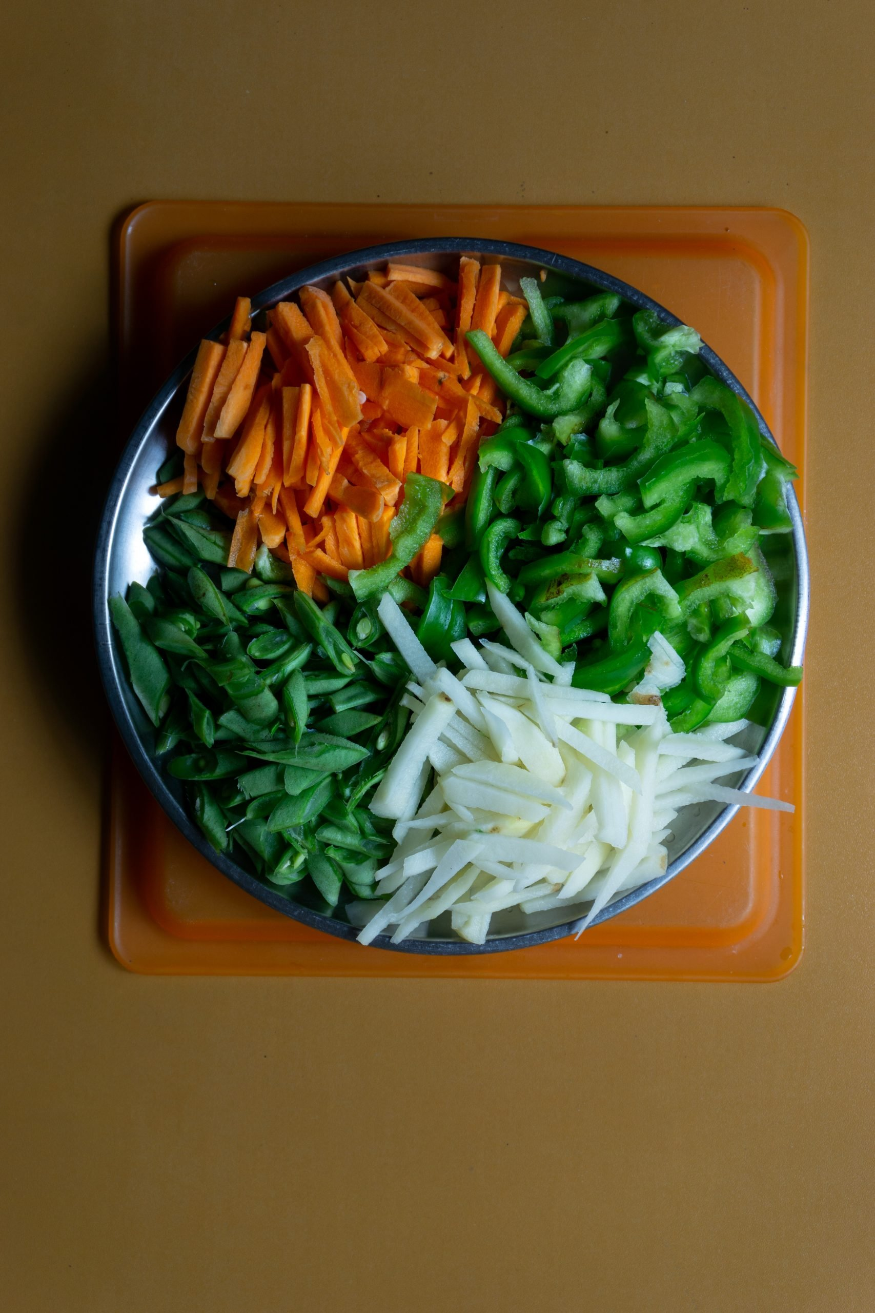 Vegetables in plate