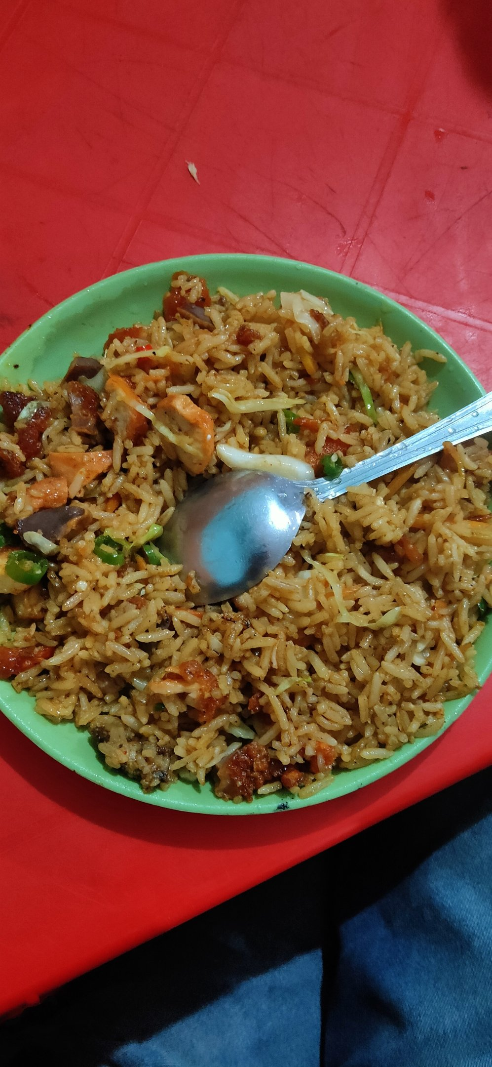 Fried rice in a plate