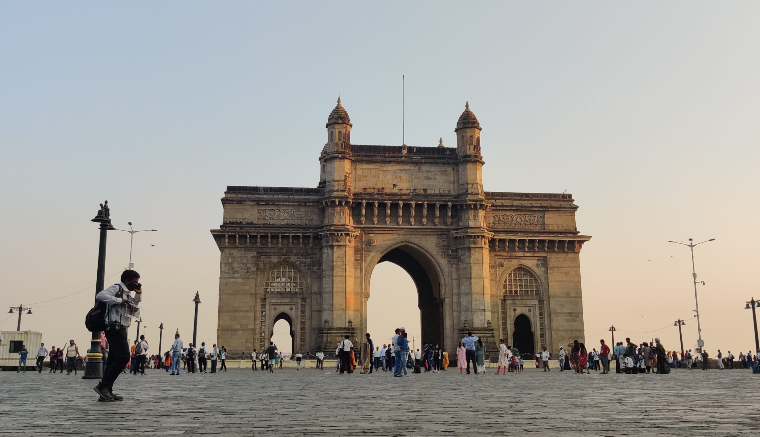 Tourists at Gateway of India