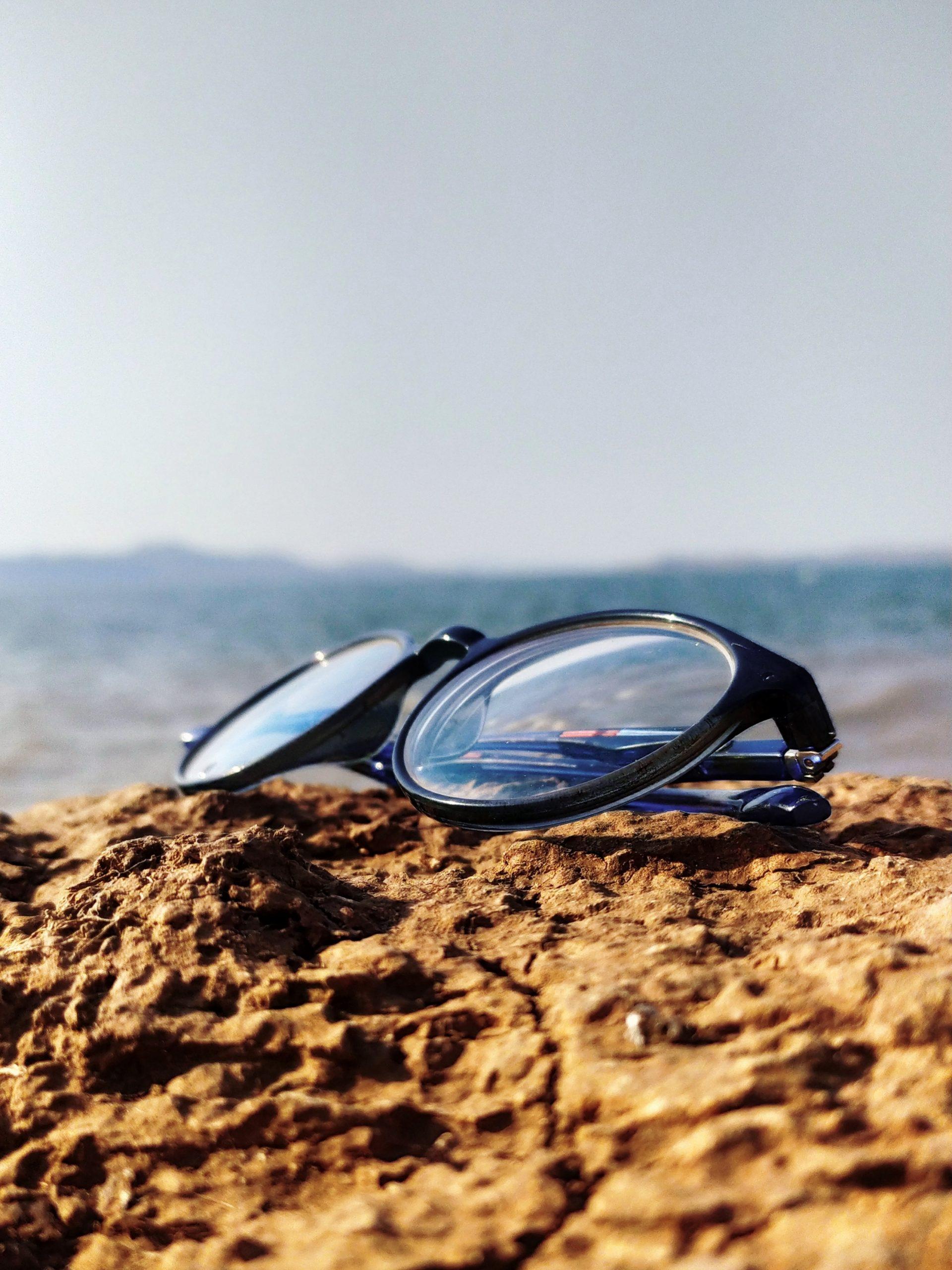 Goggles in a beach