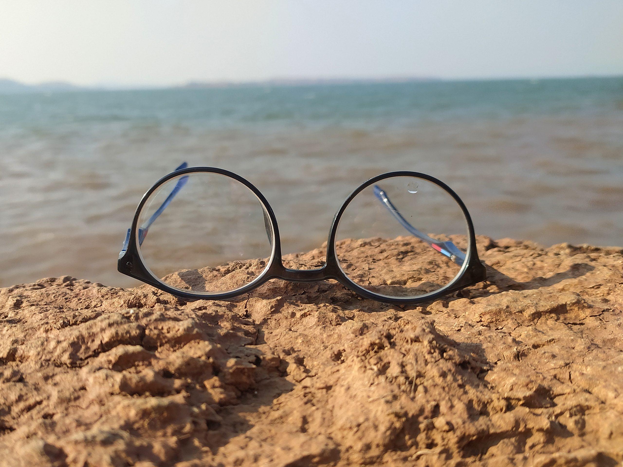 Glasses on beach