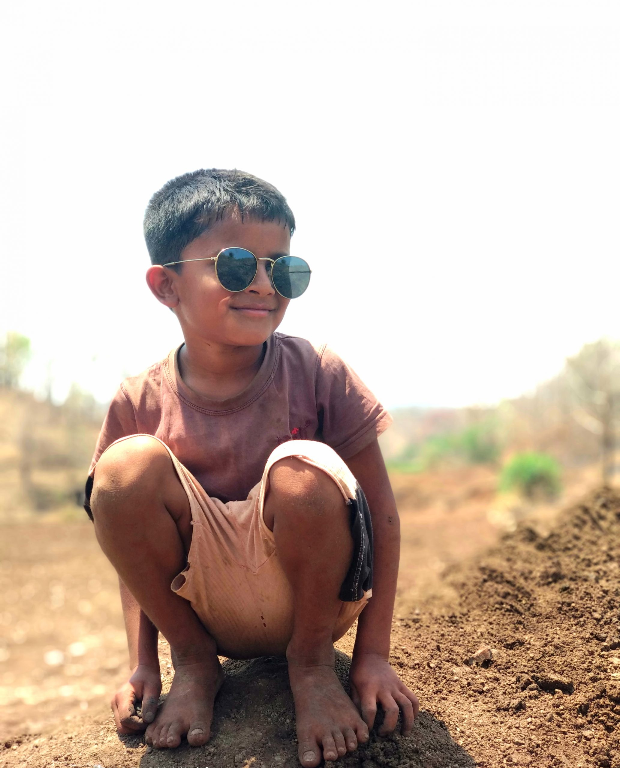 A happy village boy