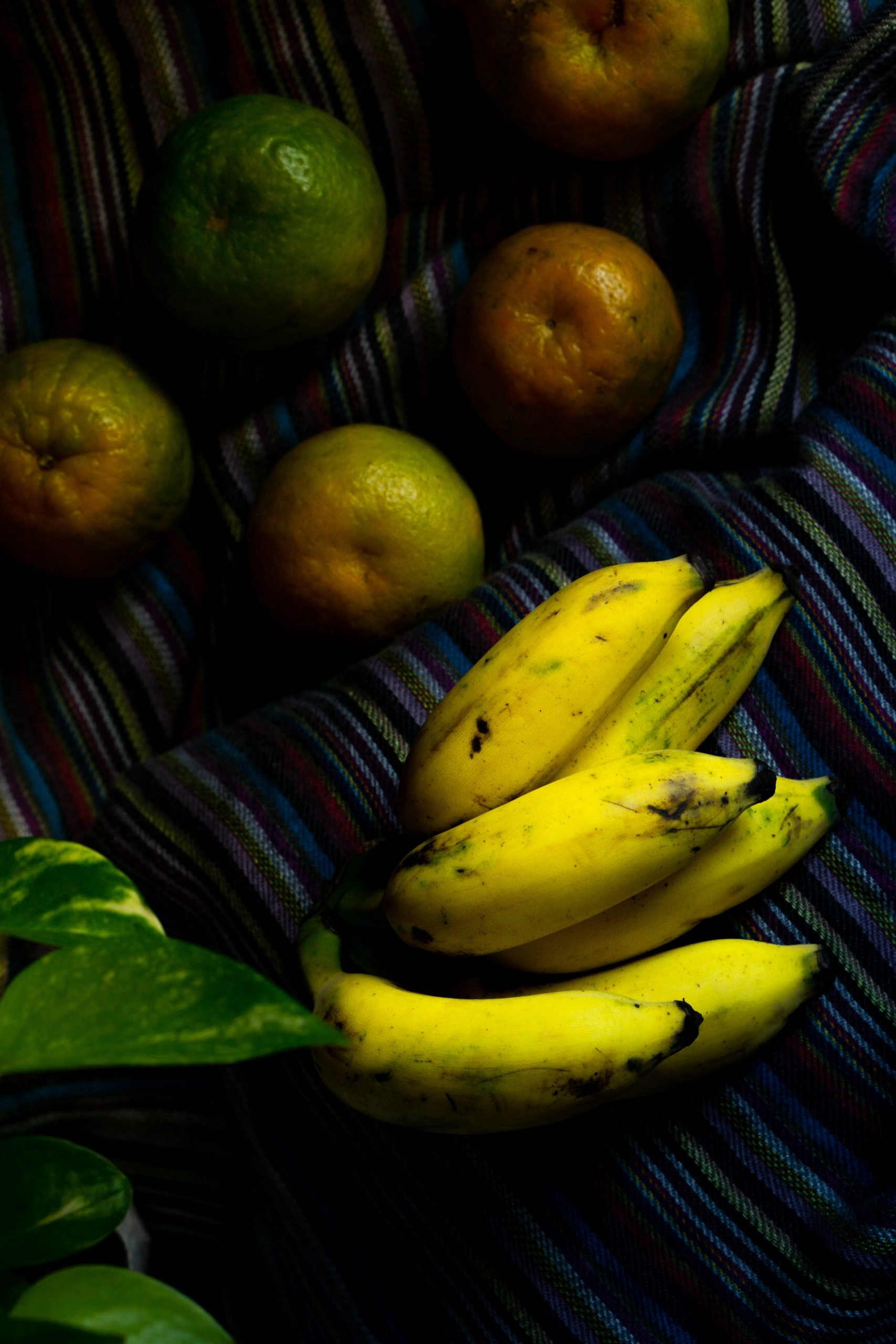 bananas and oranges