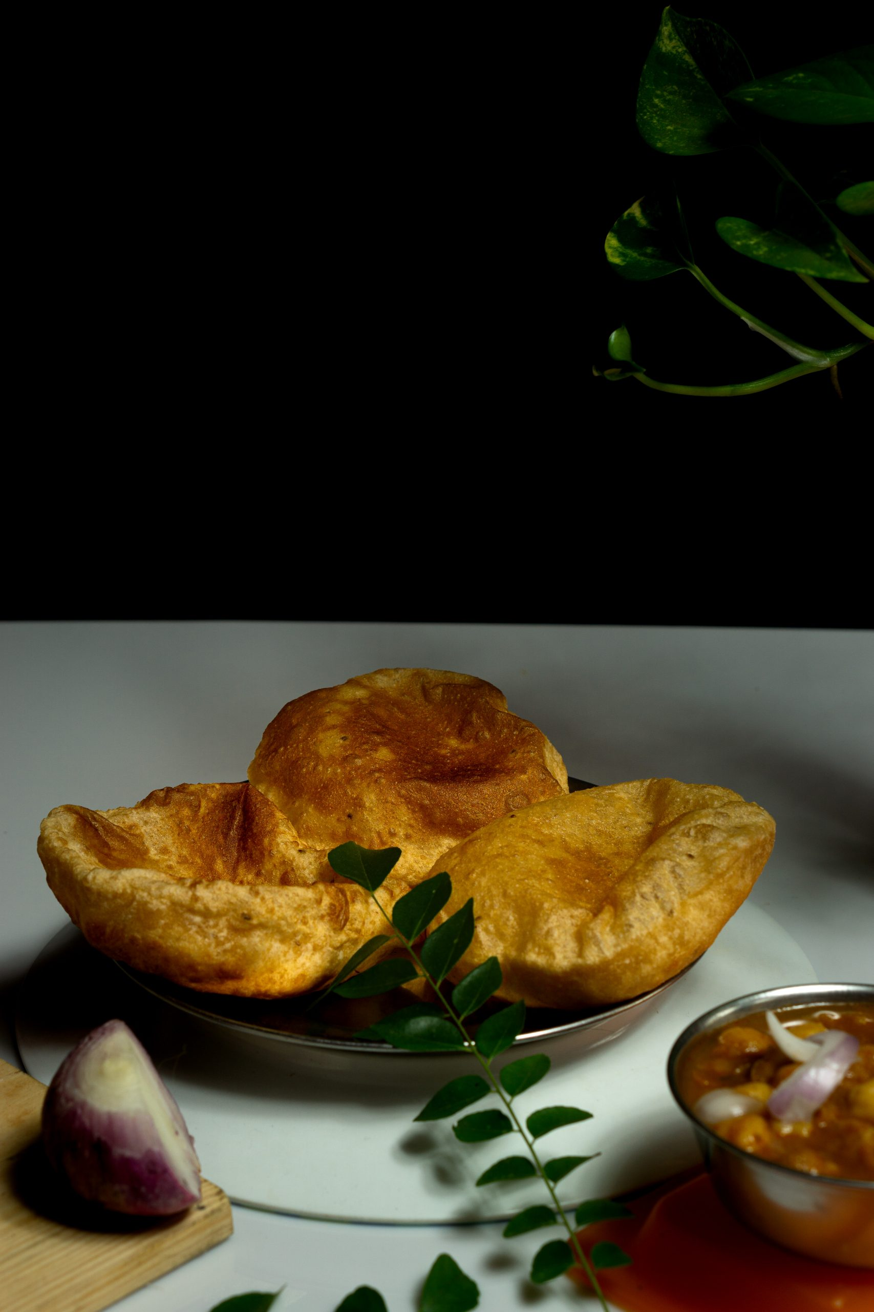 Homemade poori on the table
