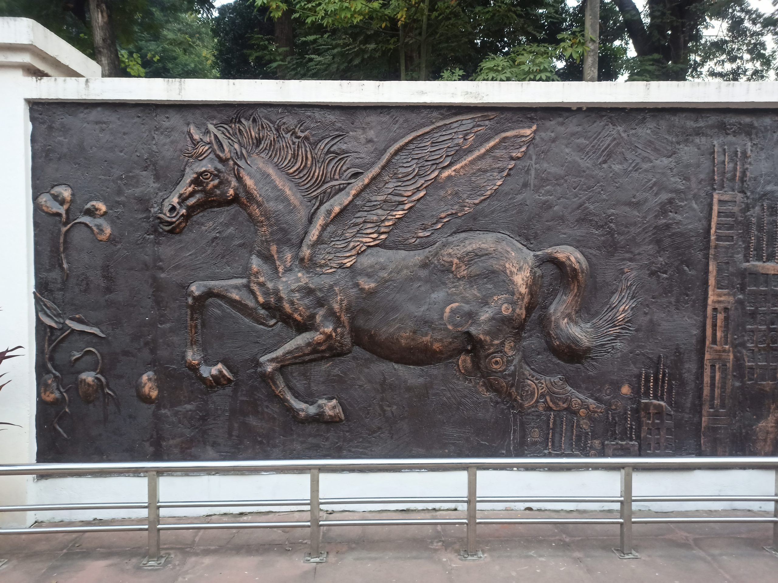 Carving of Horse with wings