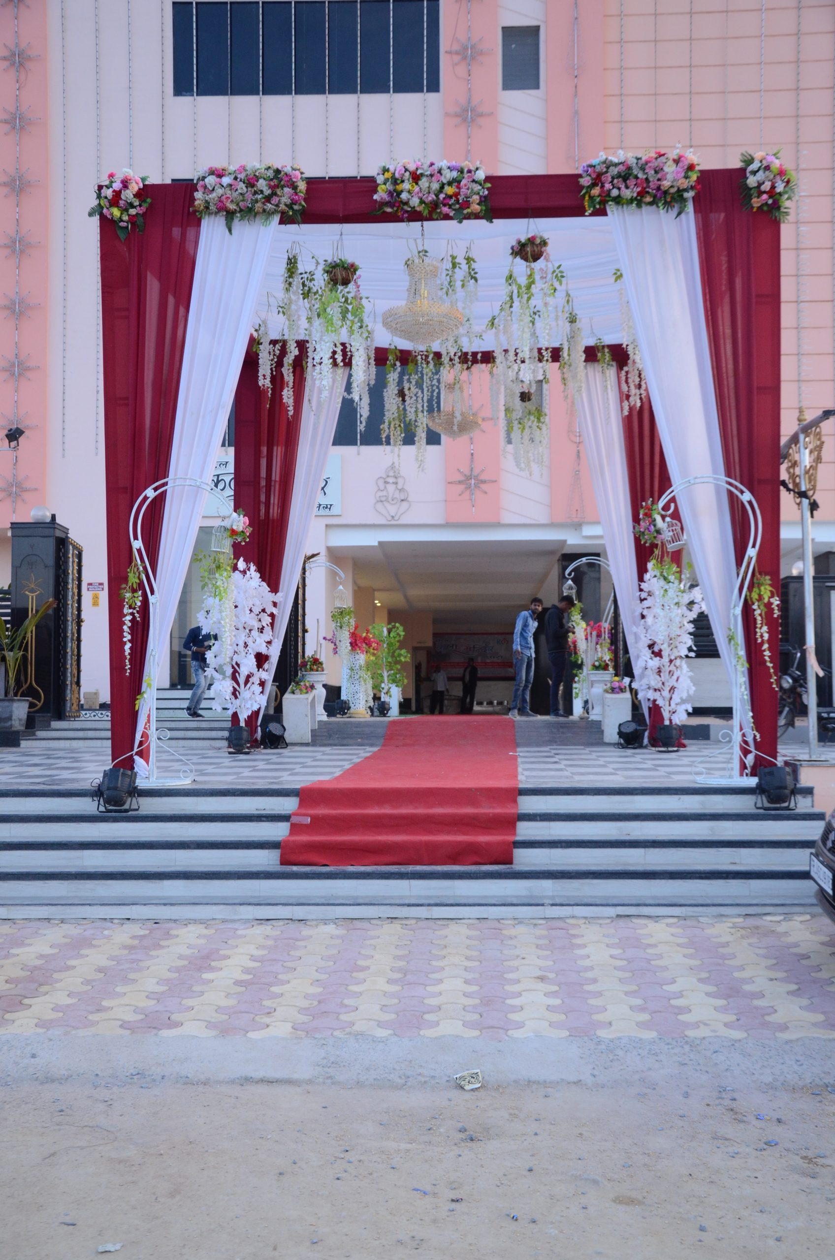 Entry to a wedding hall