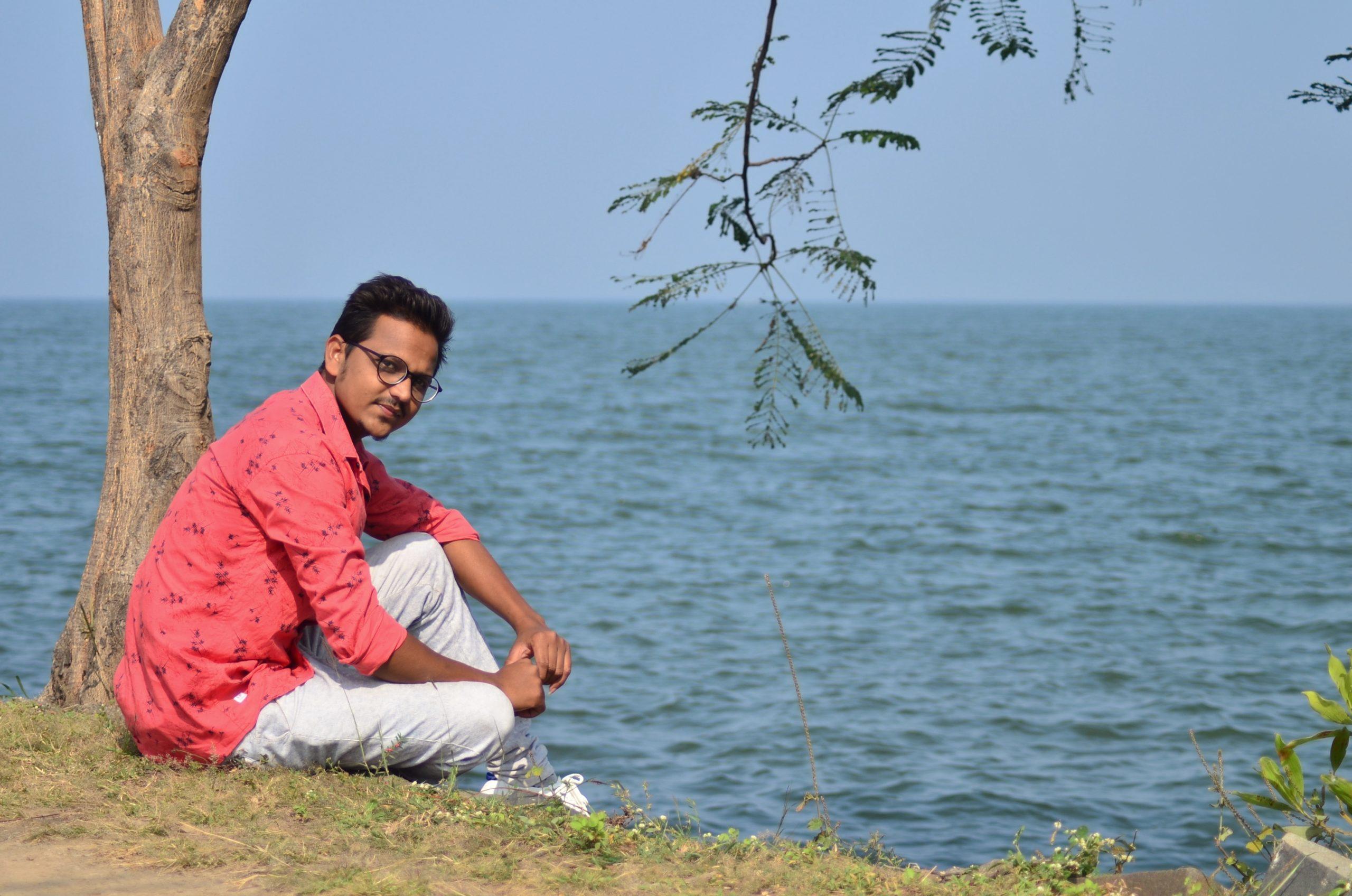 A boy at beachside