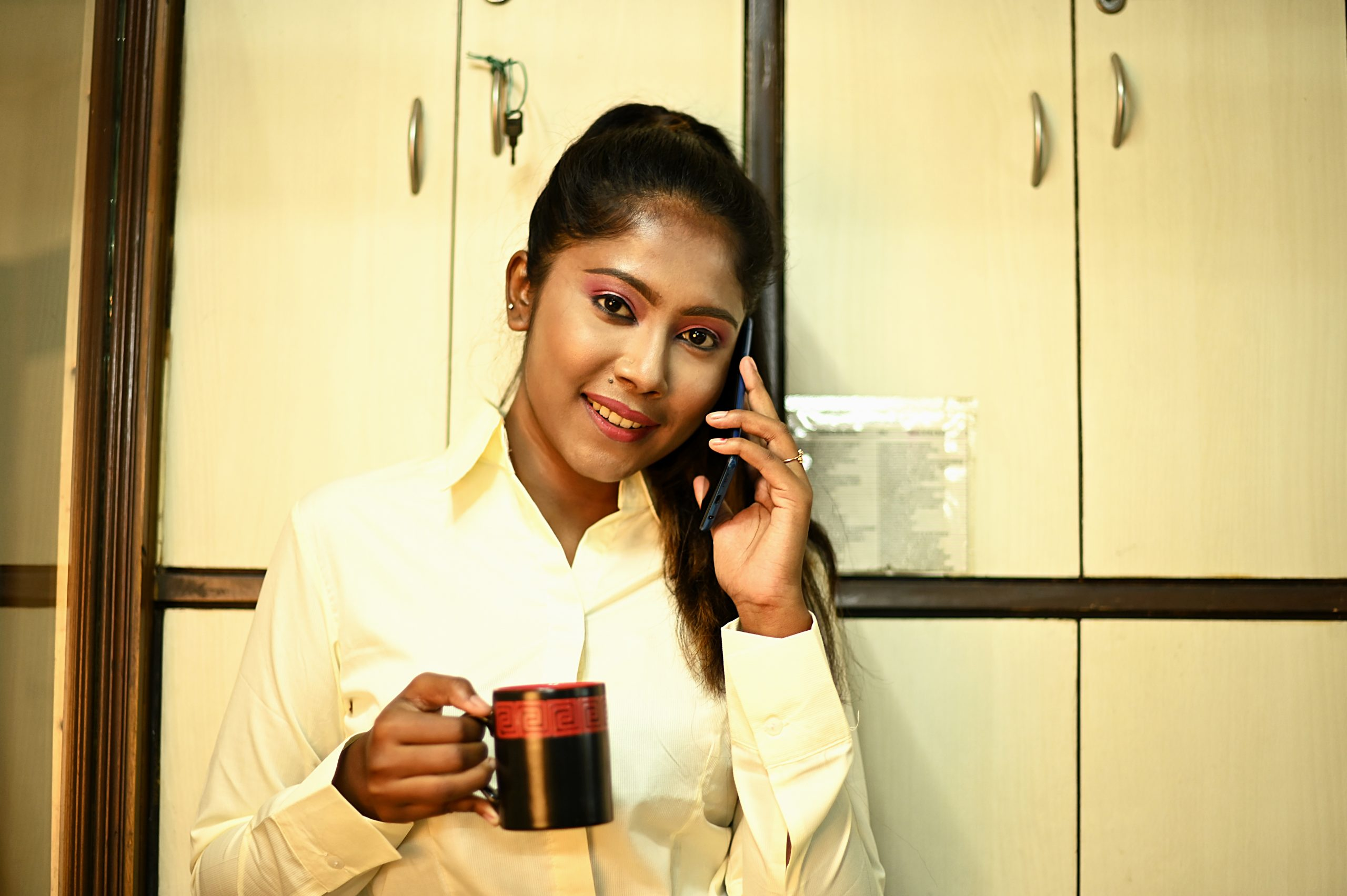 In a call