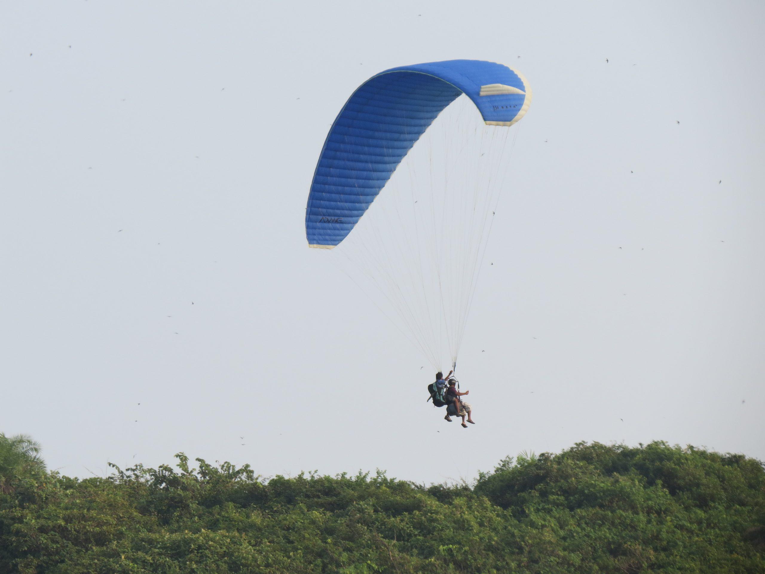Paragliding adventure