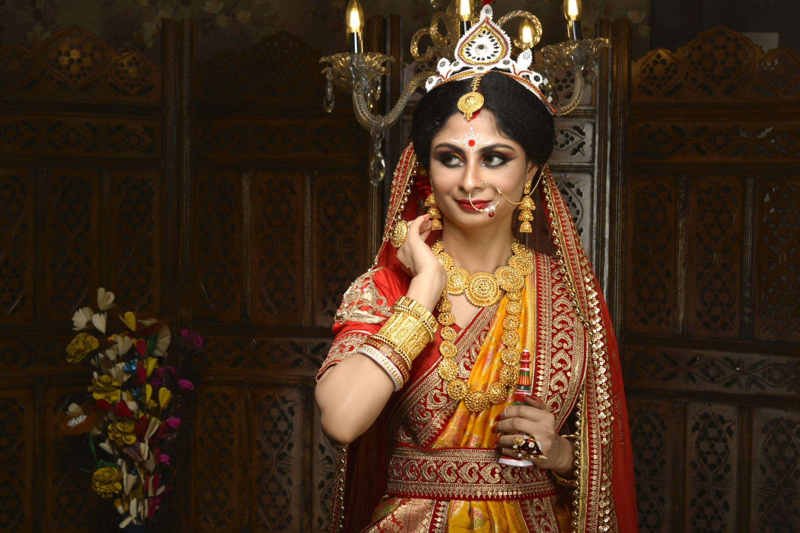 Indian bride in tranditinal look