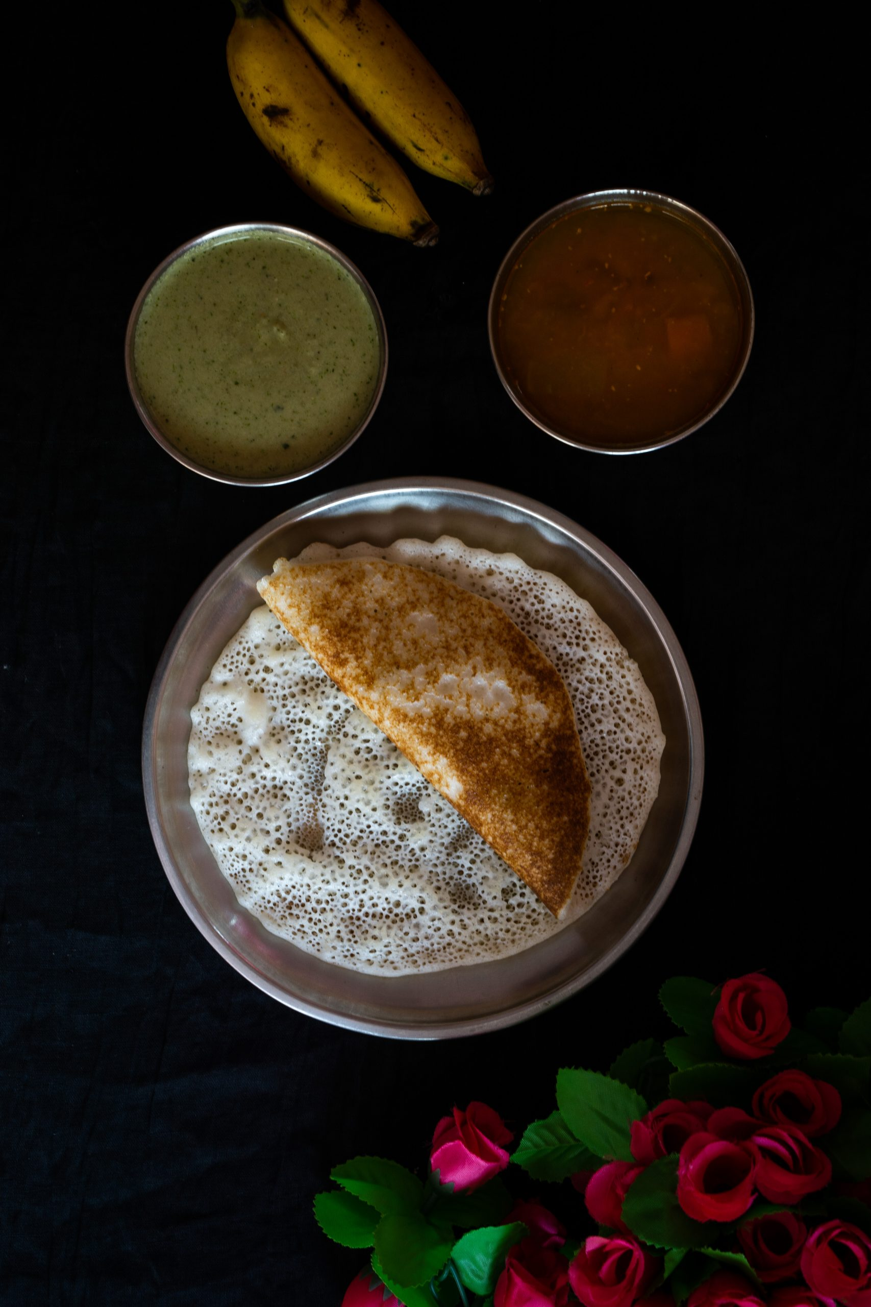 Indian food dosa for breakfast