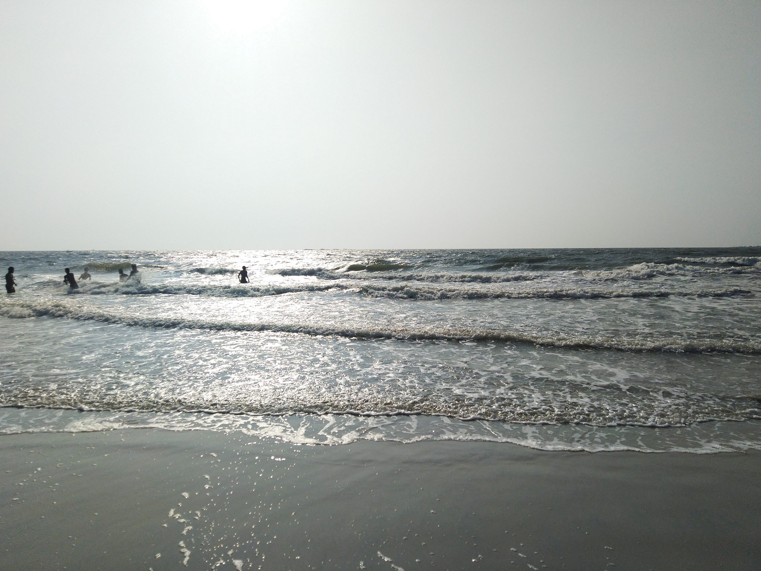 sun and the waves