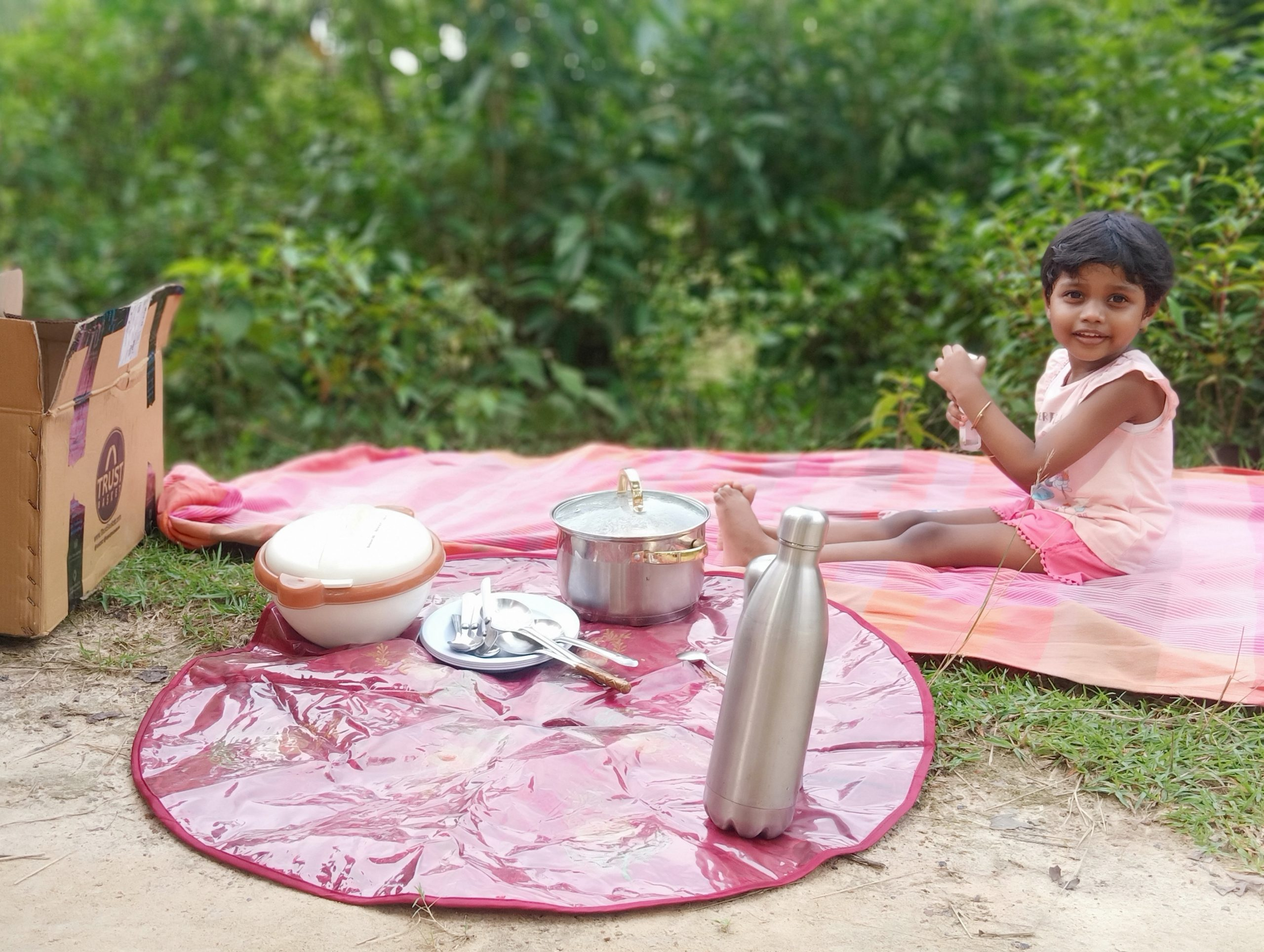 A kid during picnic
