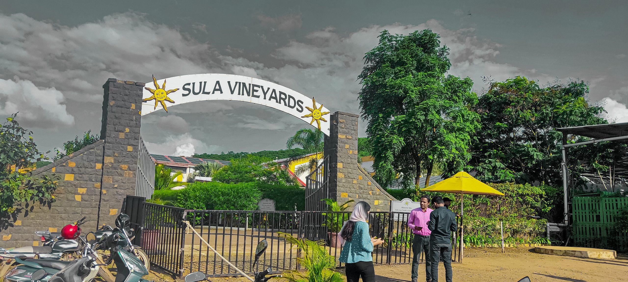 Entrance gate of Sula Vineyards in Nashik
