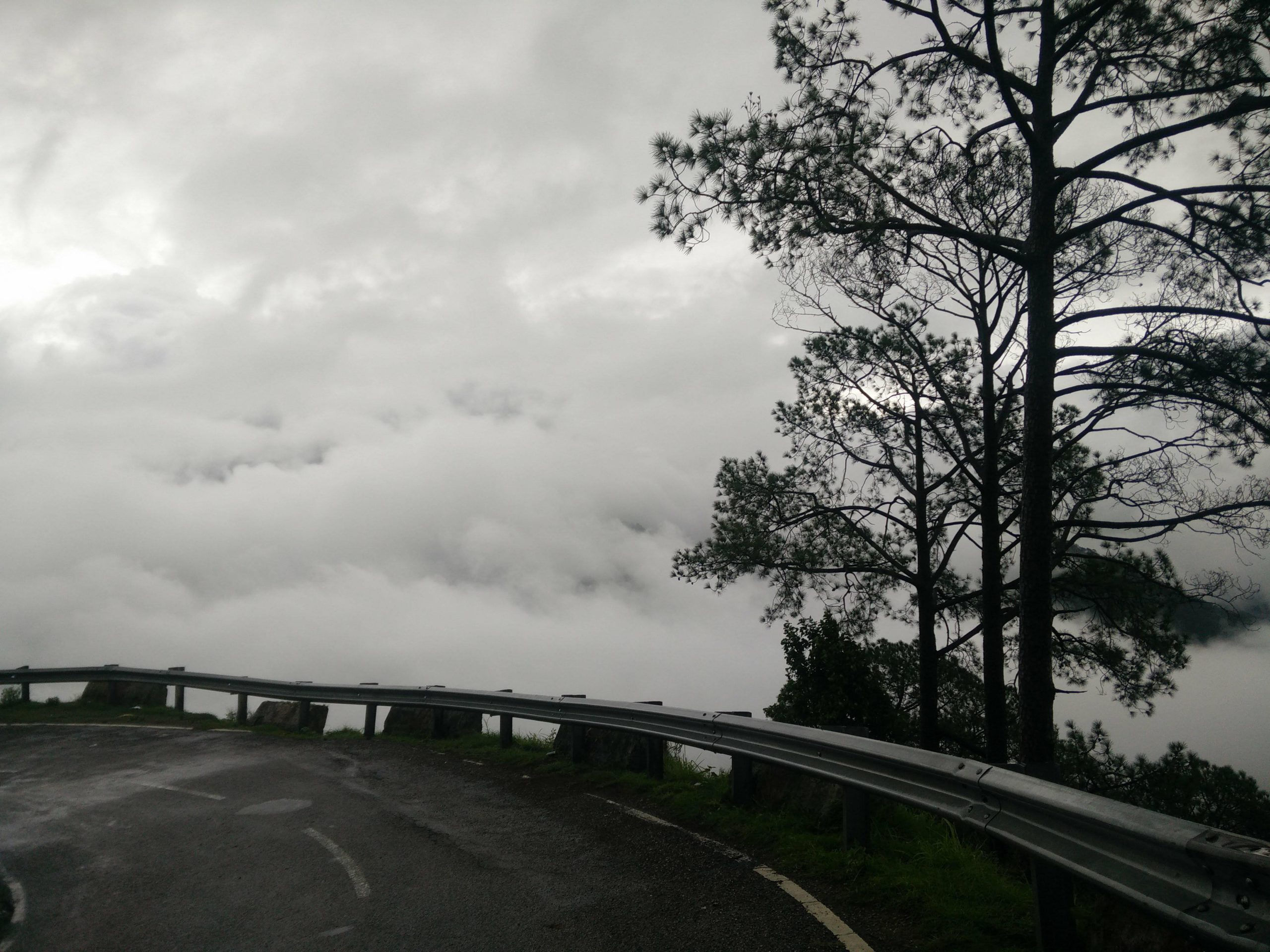Highway in the midst of clouds