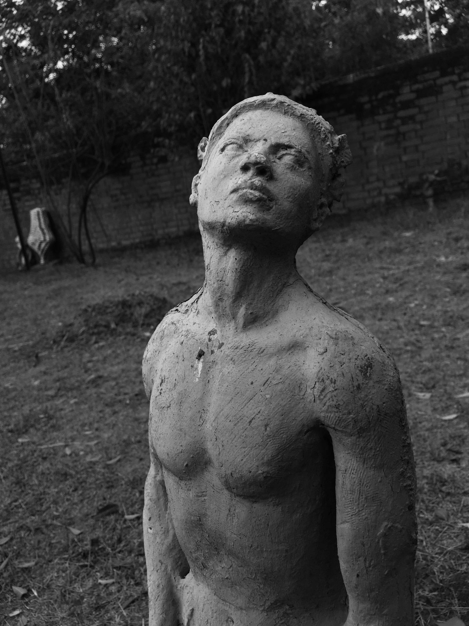 Statue in farm