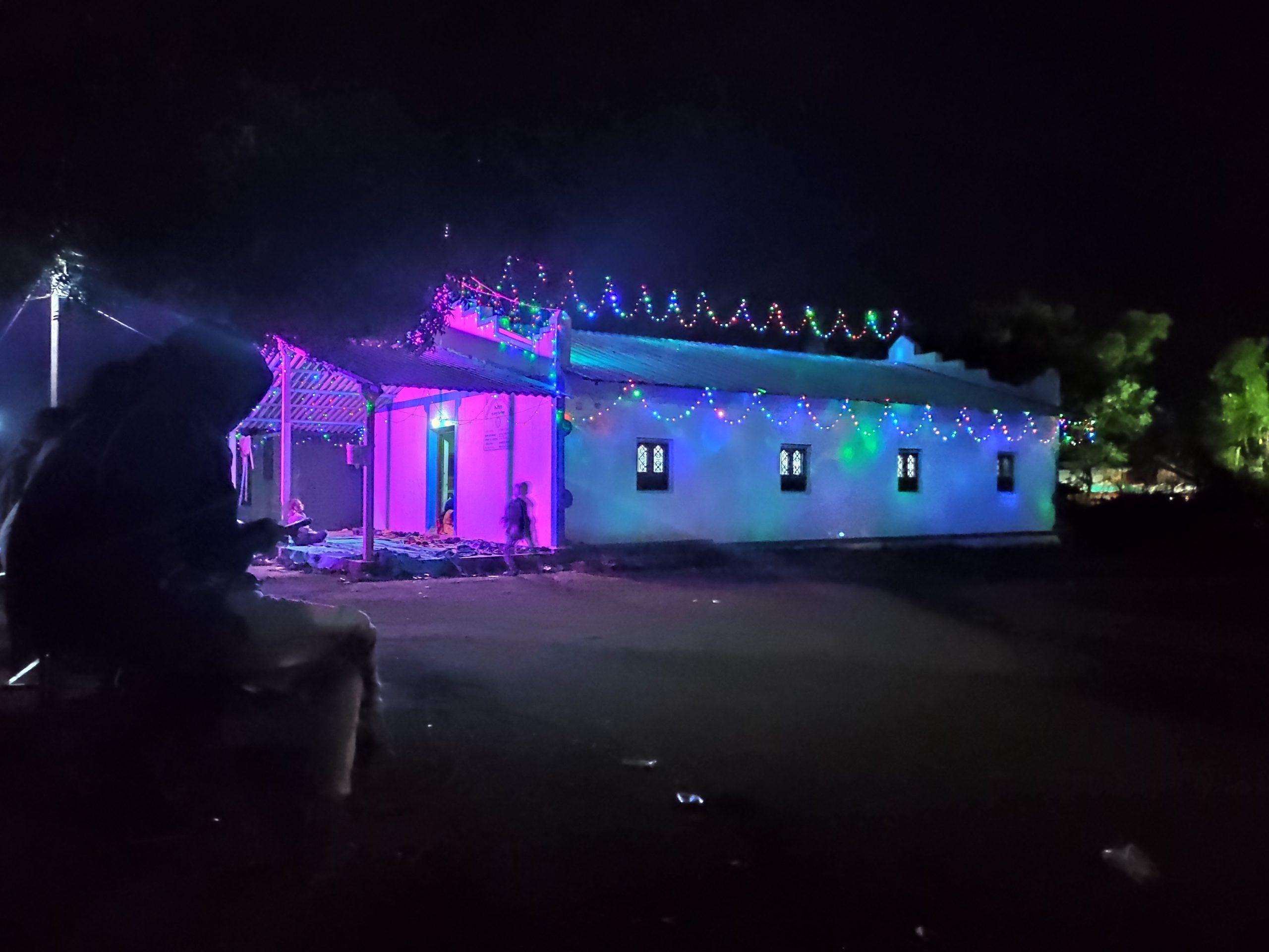 Lighting of a church