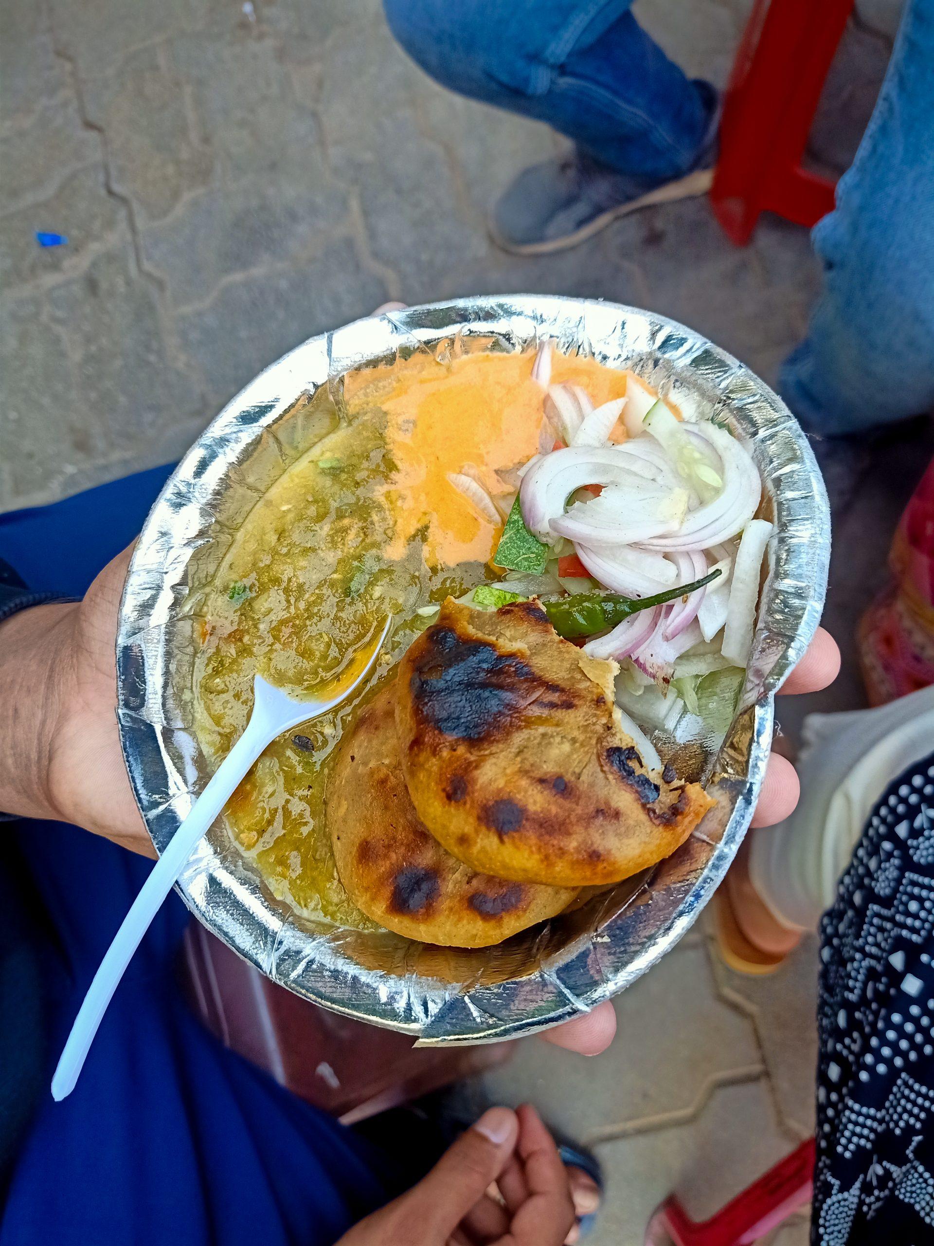 Litti Choka in a plate