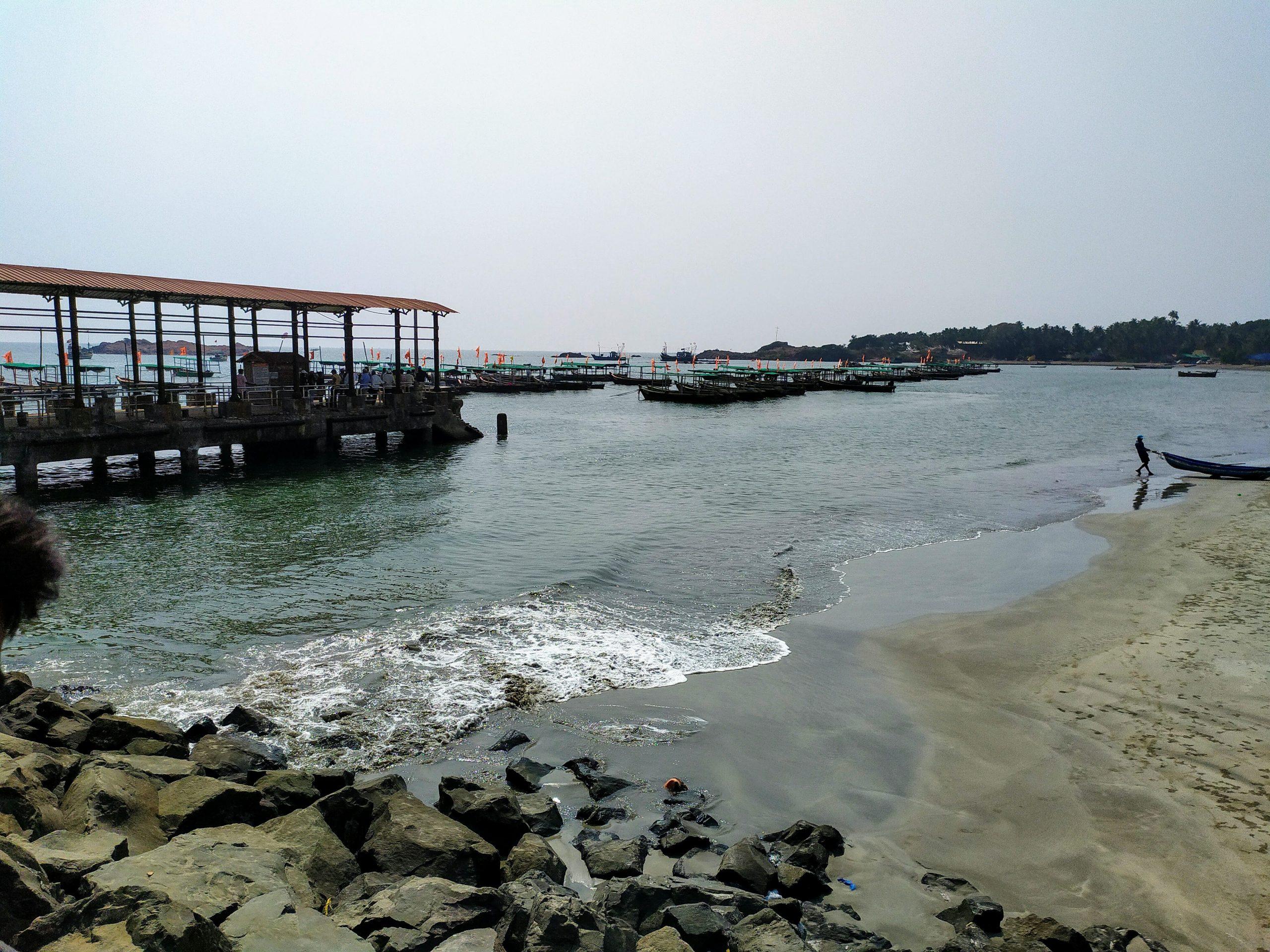 Landscape of beach water