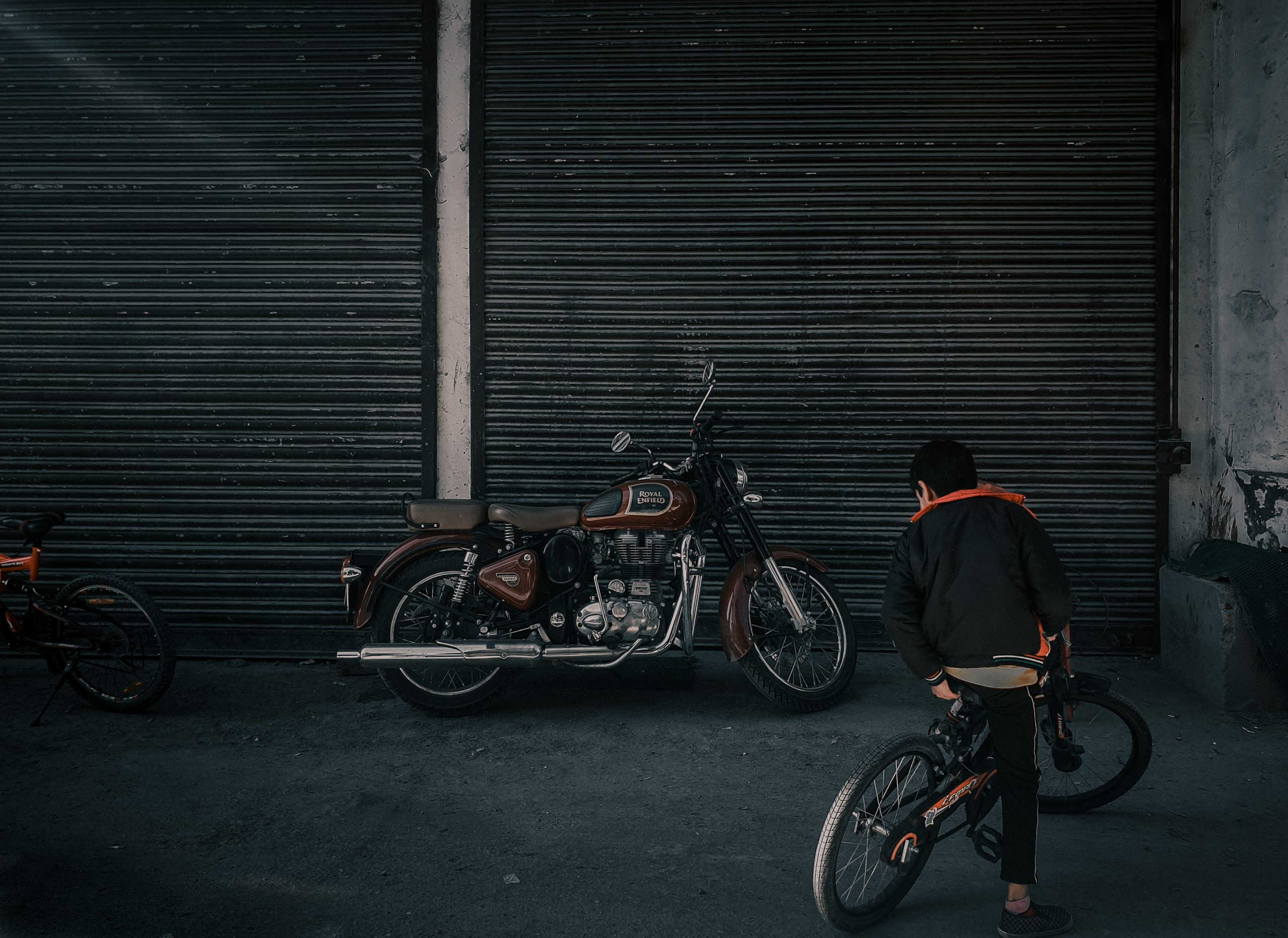 Parked Royal Enfield